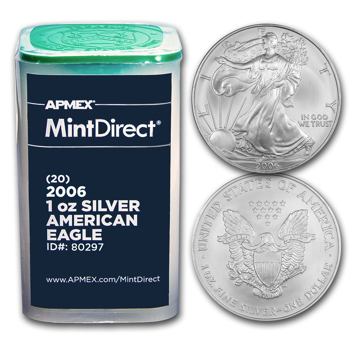 2006 1 oz Silver American Eagles (20-Coin MintDirect® Tube)