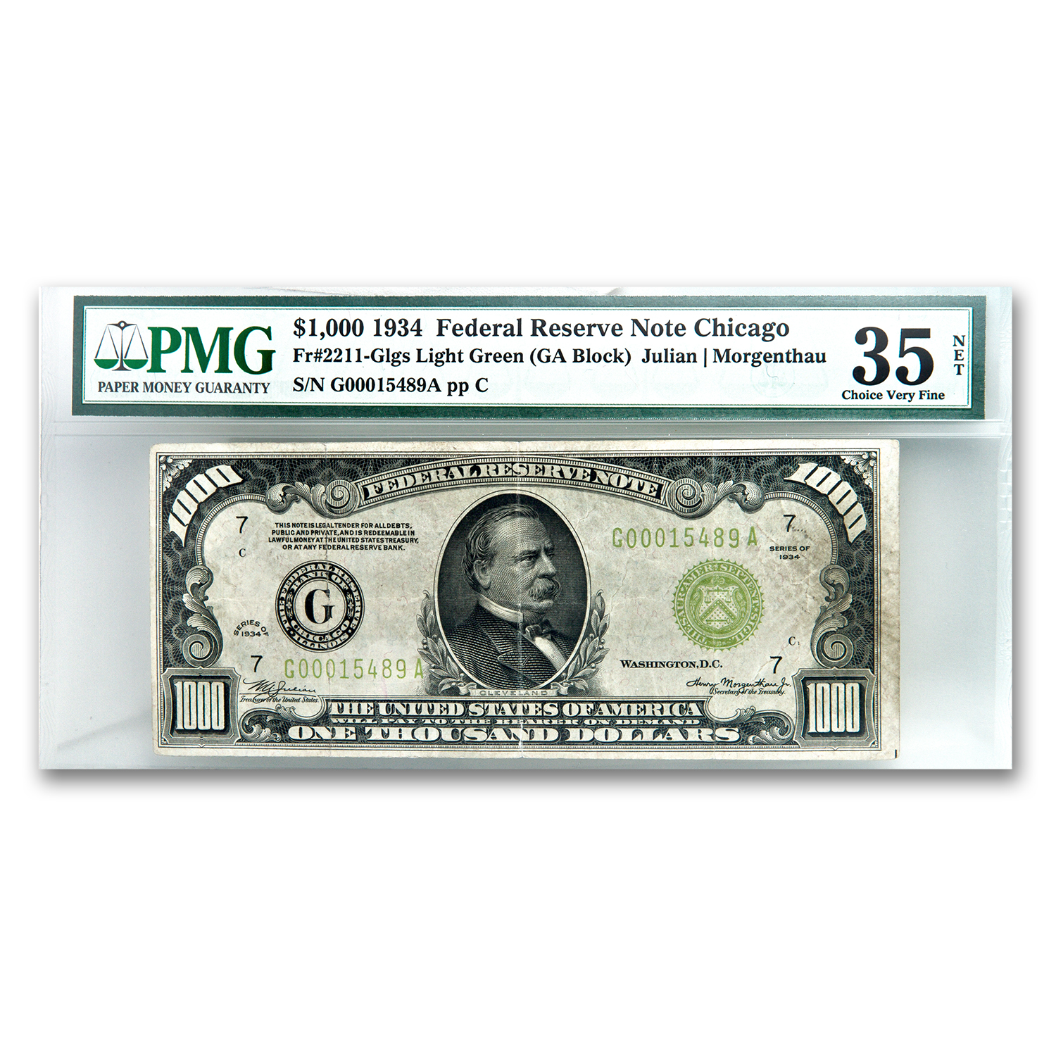 1934 (G-Chicago) $1,000 FRN PMG (Very Fine)-20