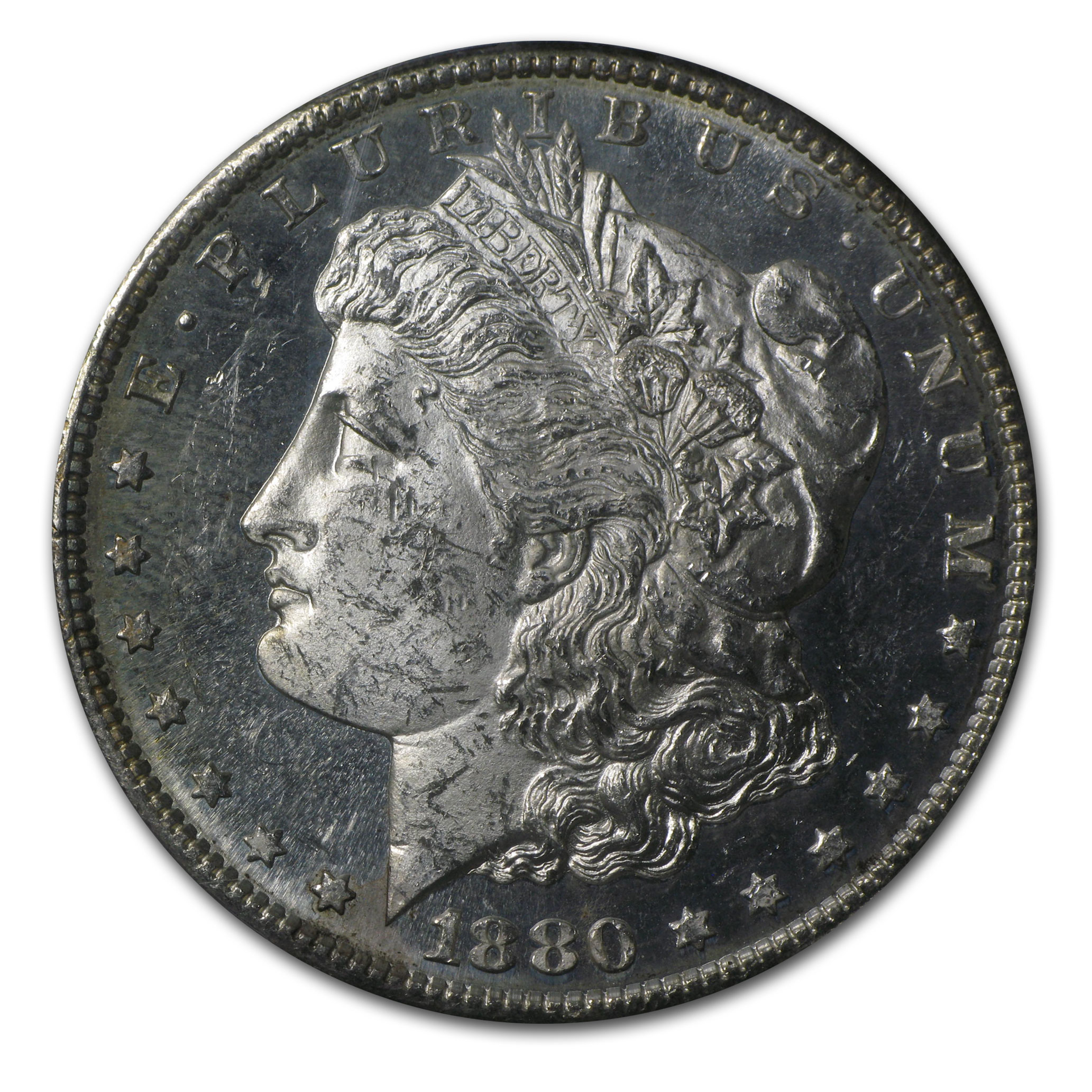 1880-S Morgan Dollar MS-62 PL Proof Like PCGS (Beautifully Toned)