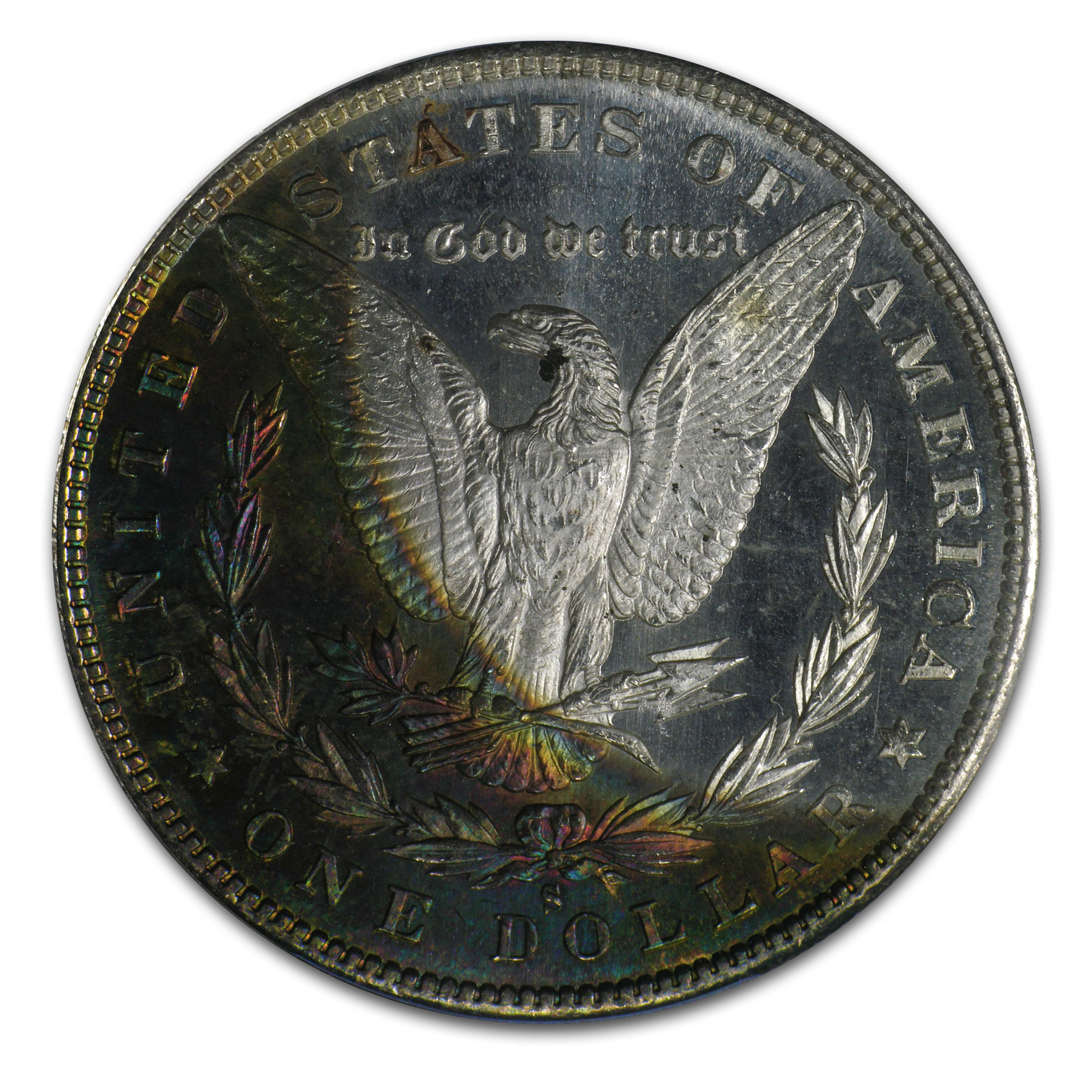 1880-S Morgan Dollar - MS-62 PL Proof Like PCGS Beautifully Toned