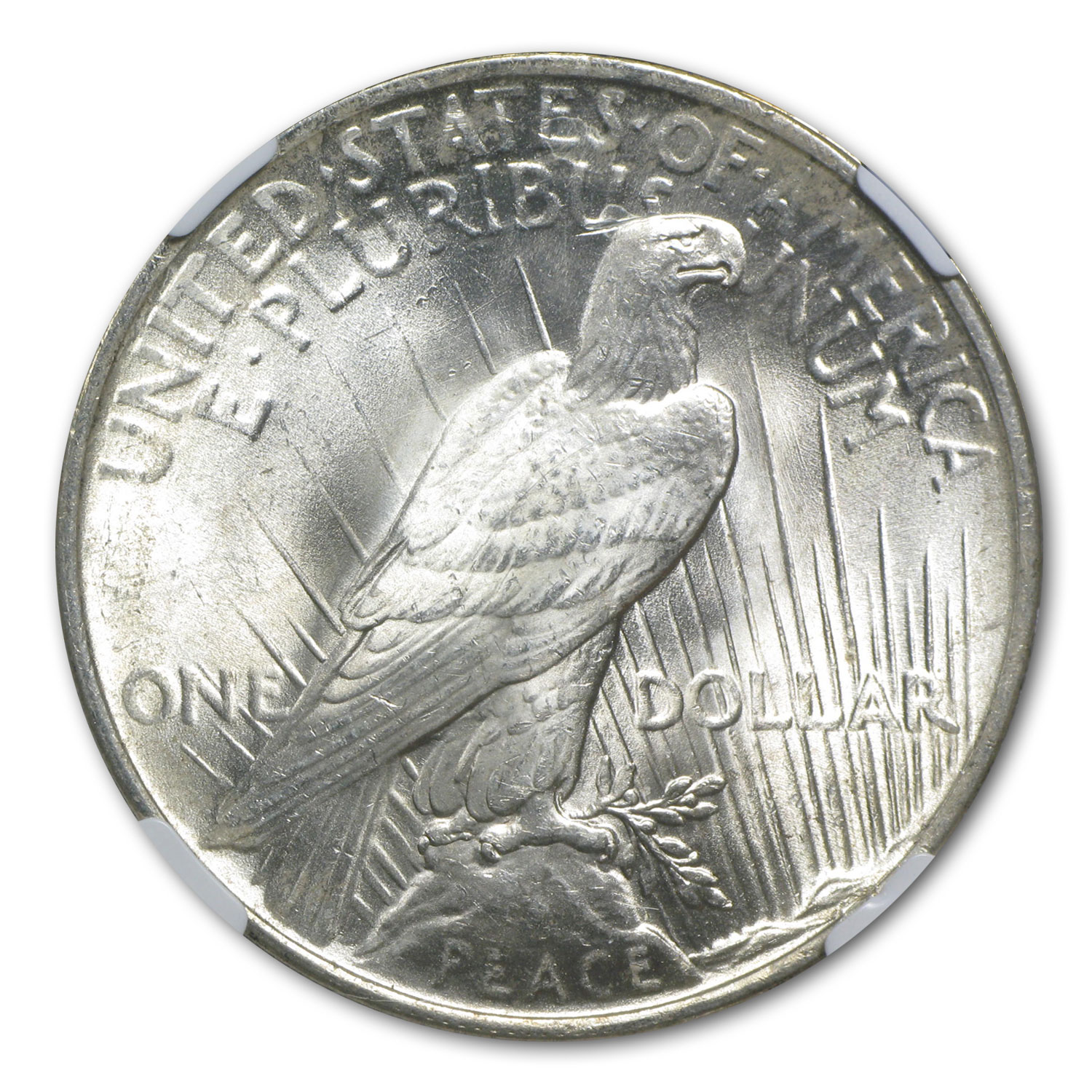 1922 Peace Dollar MS-63 NGC Beautiful Obverse Toning
