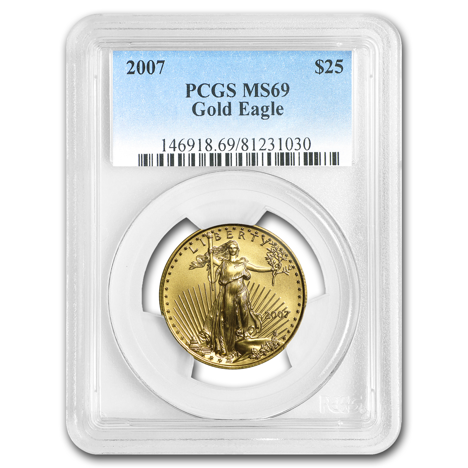 2007 1/2 oz Gold American Eagle MS-69 PCGS