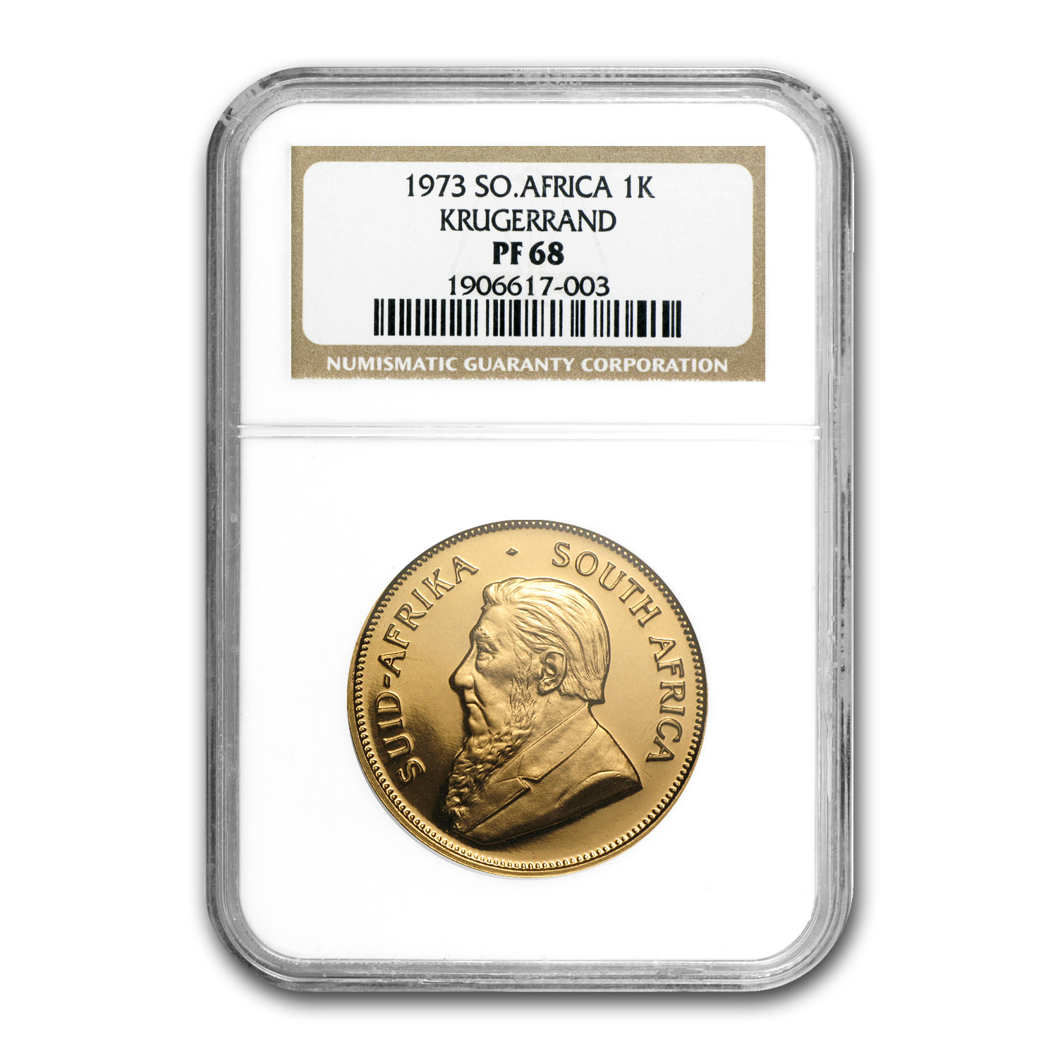 1973 South Africa 1 oz Gold Krugerrand PF-68 NGC