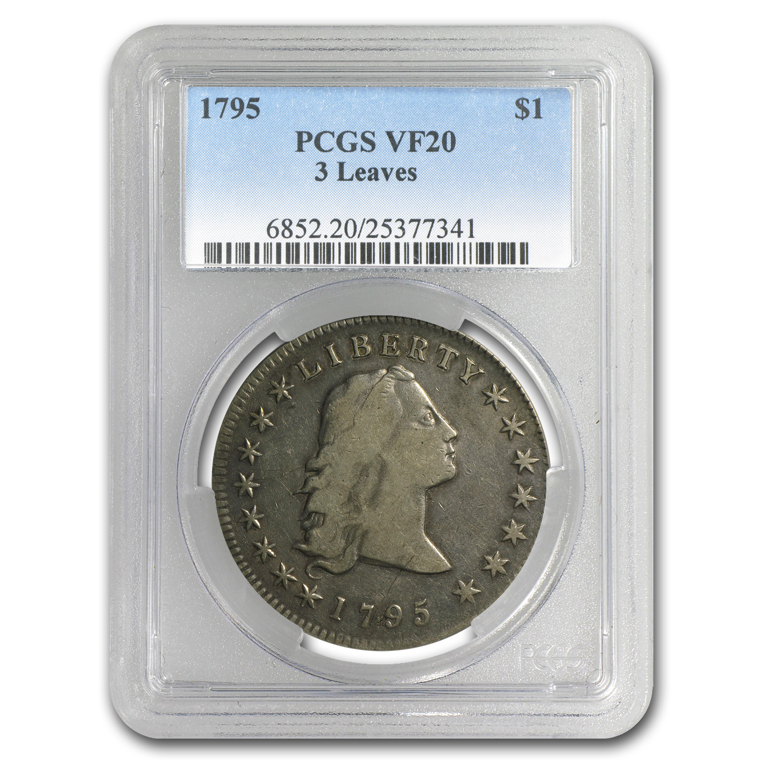 1795 Flowing Hair Dollar Very Fine-20 PCGS (3 Leaves)