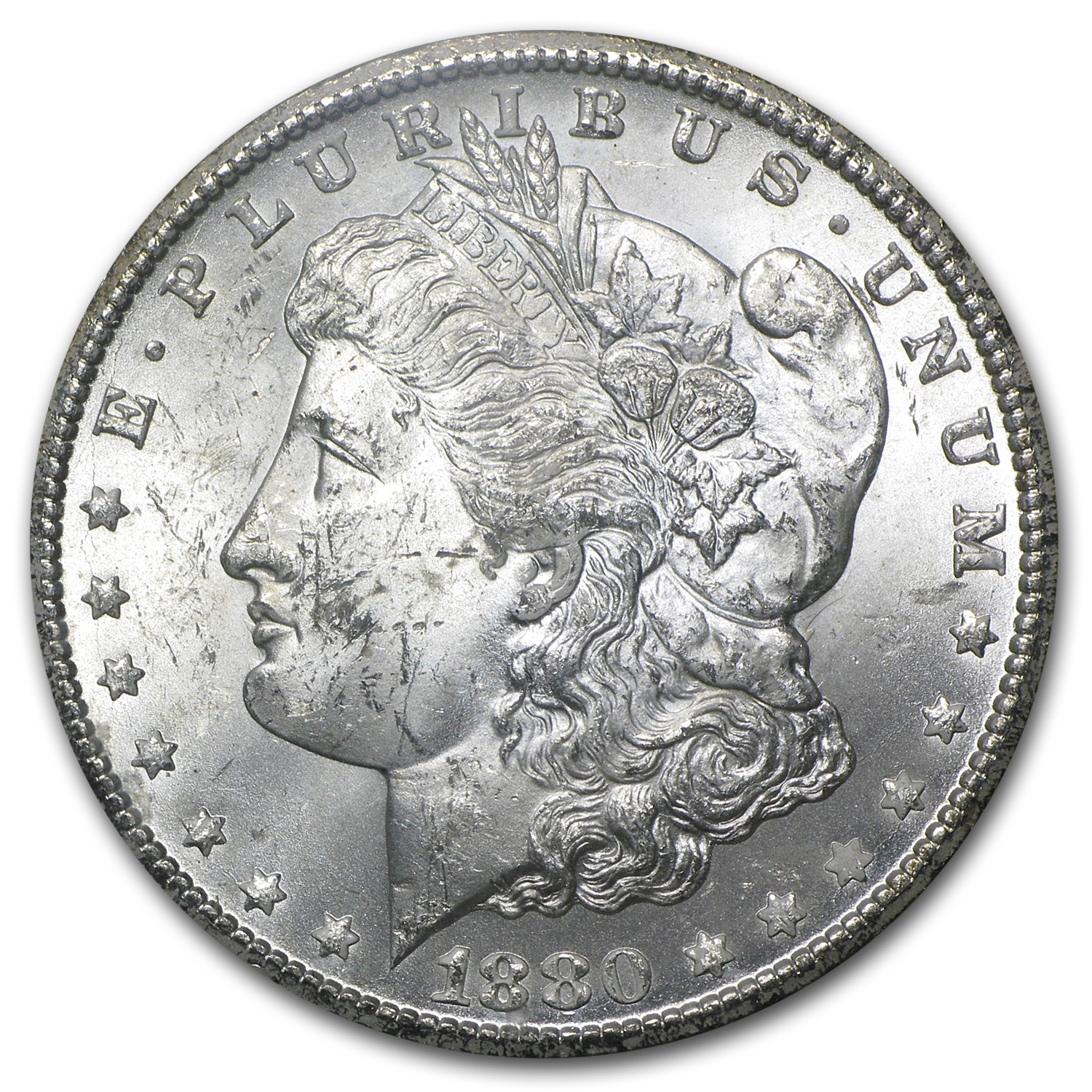 1880-CC Morgan Dollar BU GSA Holder (Beautiful Toning)