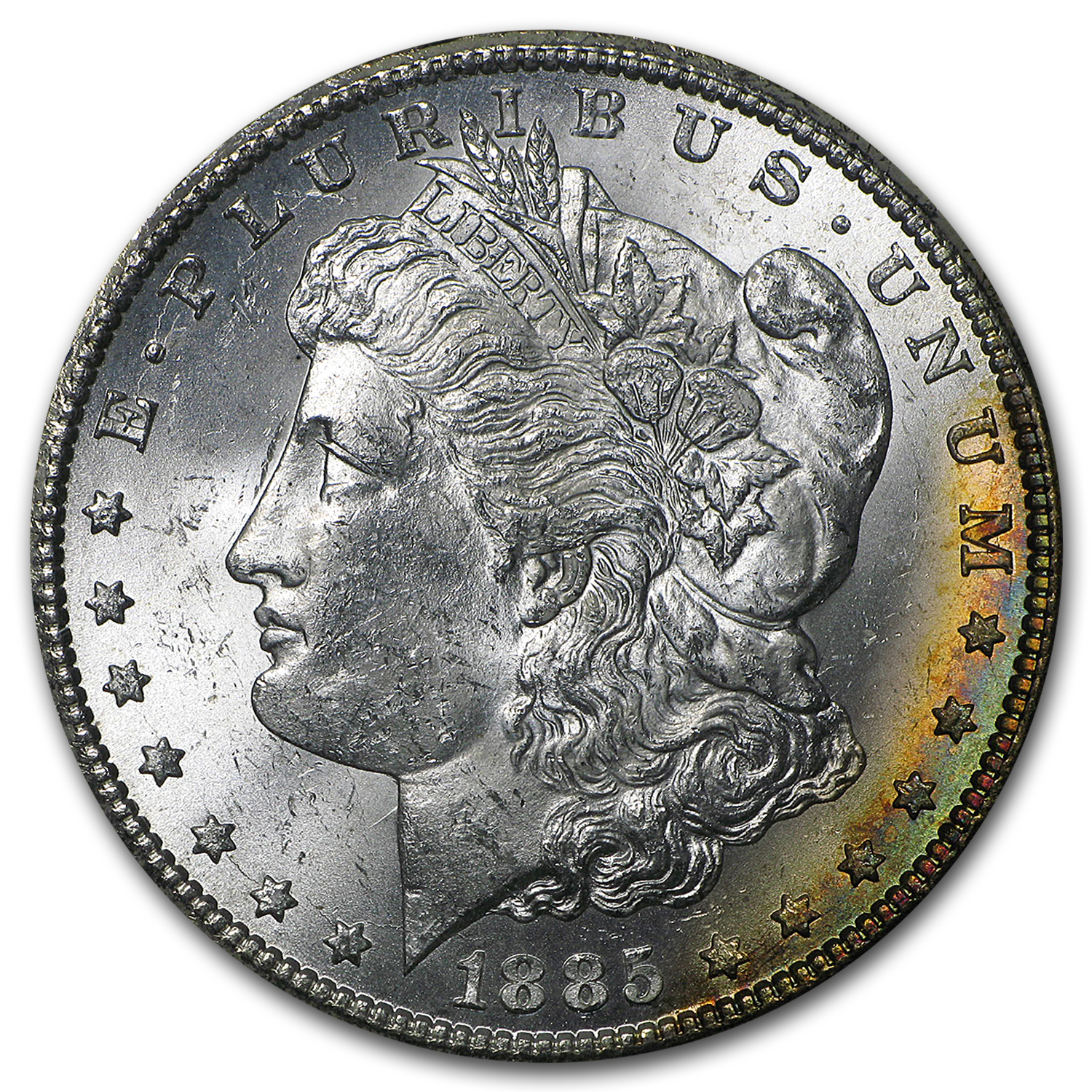 1885-CC Morgan Dollar BU (GSA Holder, Beautiful Toning)