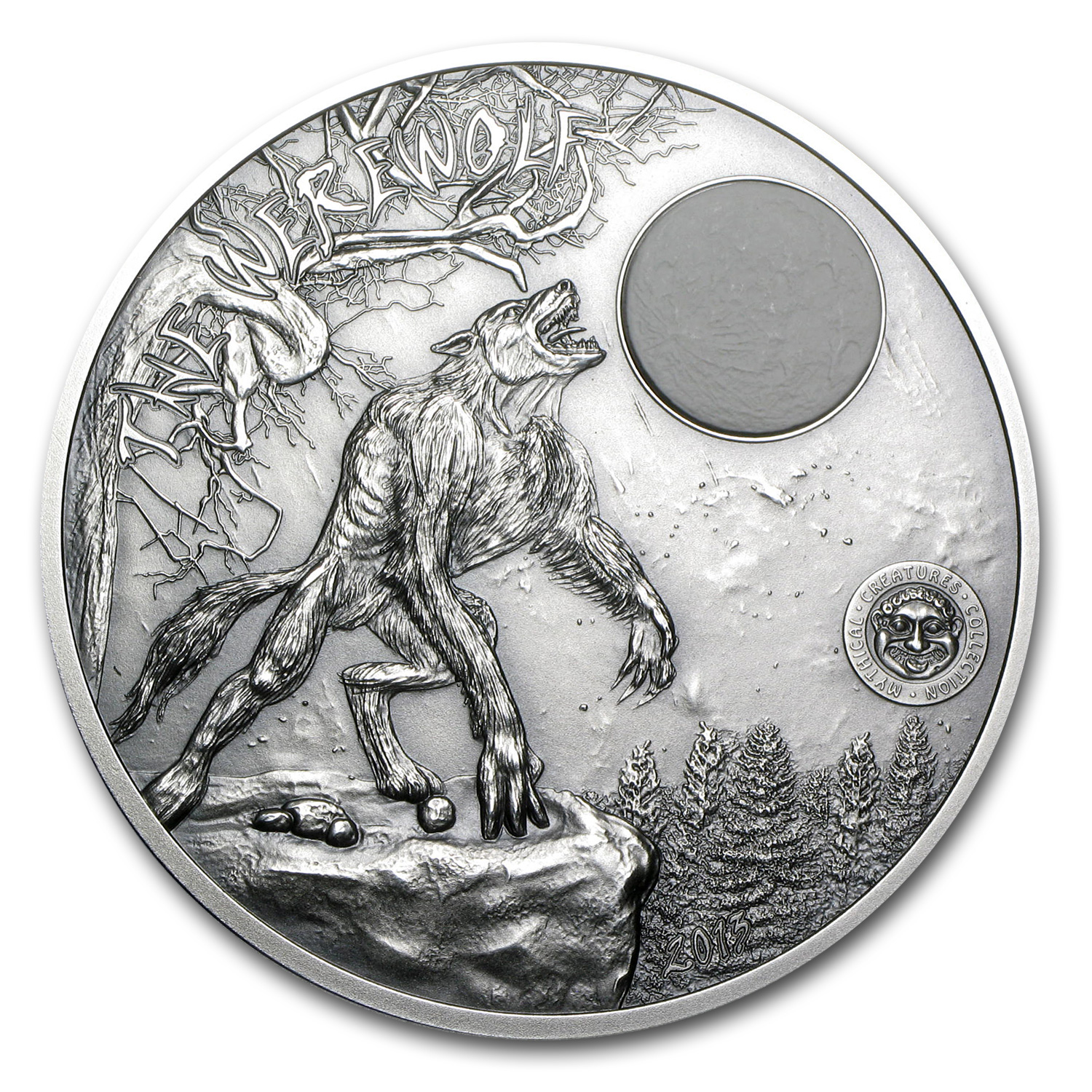 2013 Palau 2 oz Silver Mythical Creatures Collection Werewolf