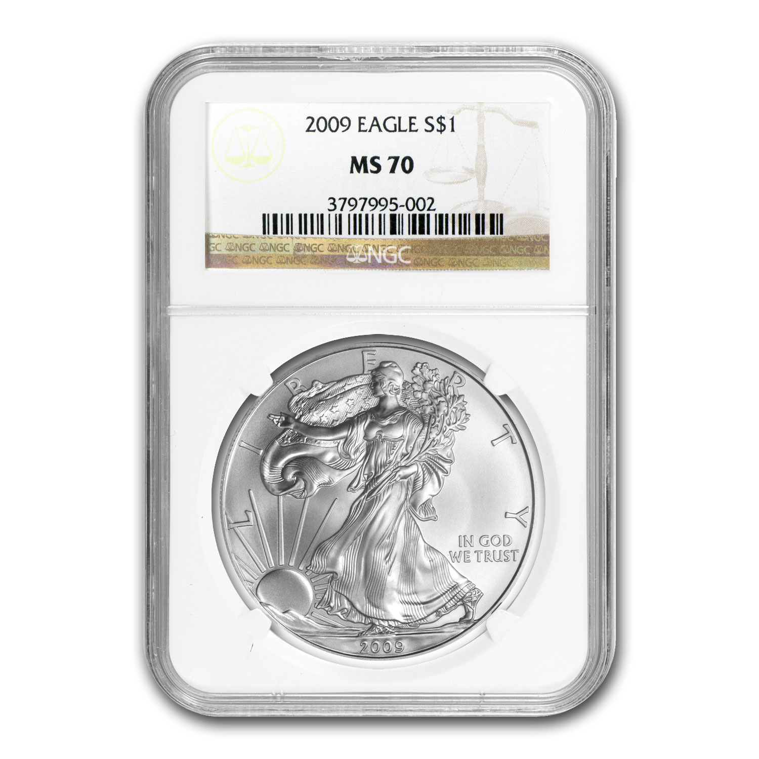 2006-2013 8-Coin Silver American Eagle Set MS-70 NGC