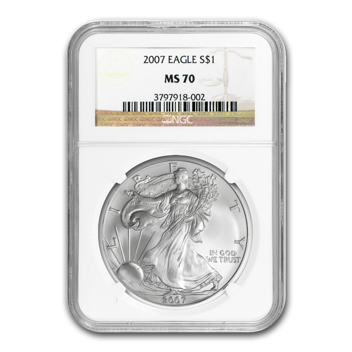 2006-2013 Silver American Eagle Date Set - MS-70 NGC