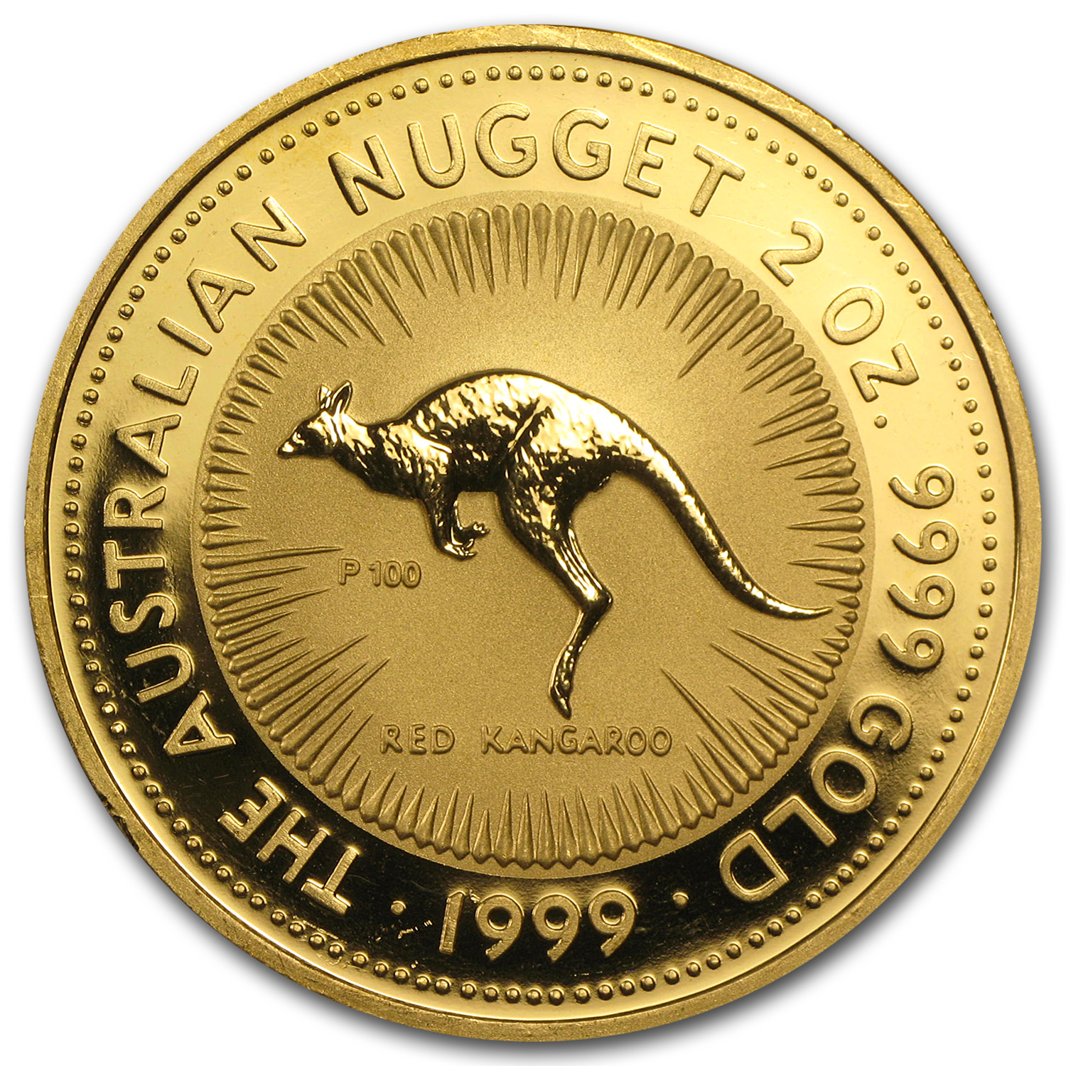 2 oz Australian Gold Kangaroo/Nugget (Light Abrasions)
