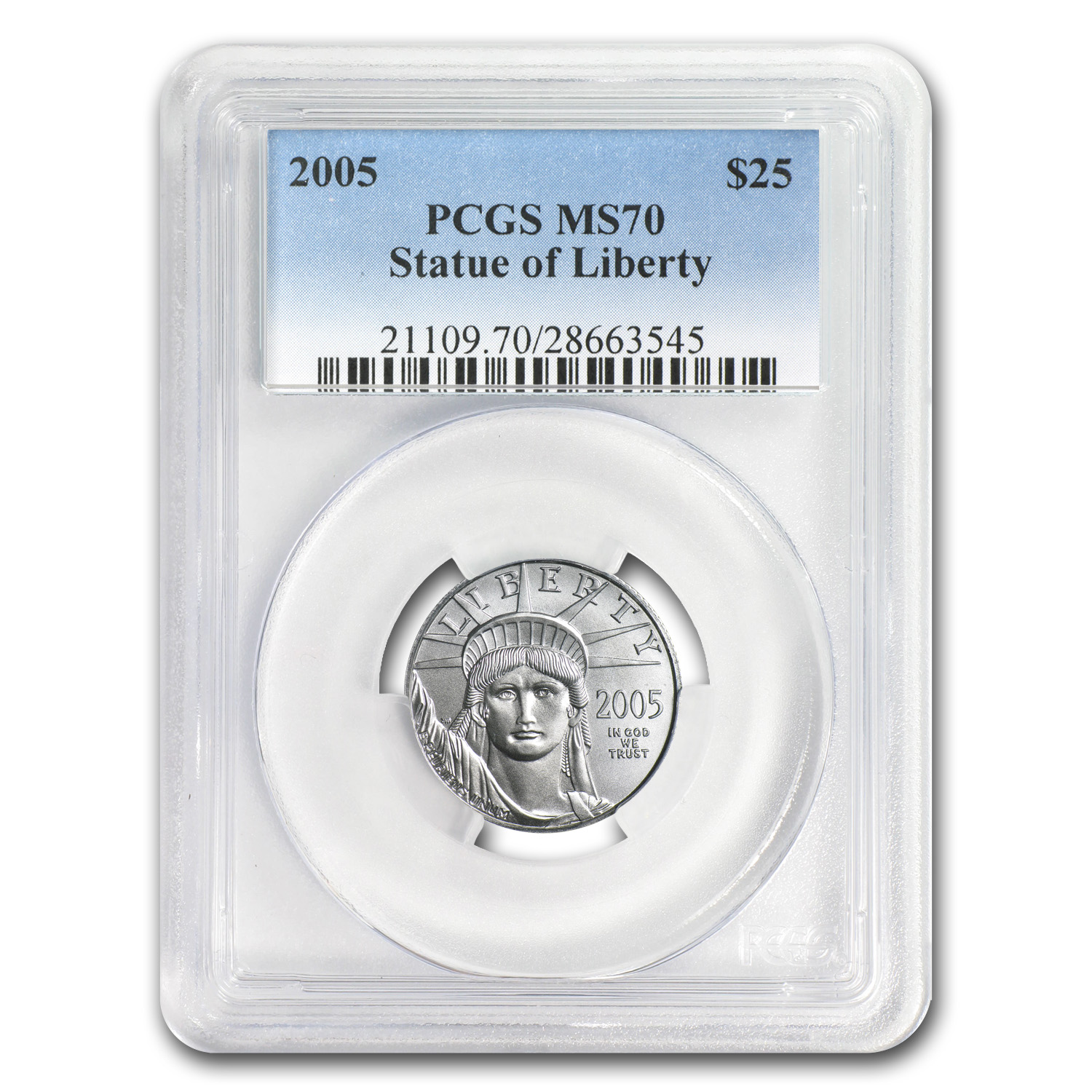 2005 1/4 oz Platinum American Eagle MS-70 PCGS