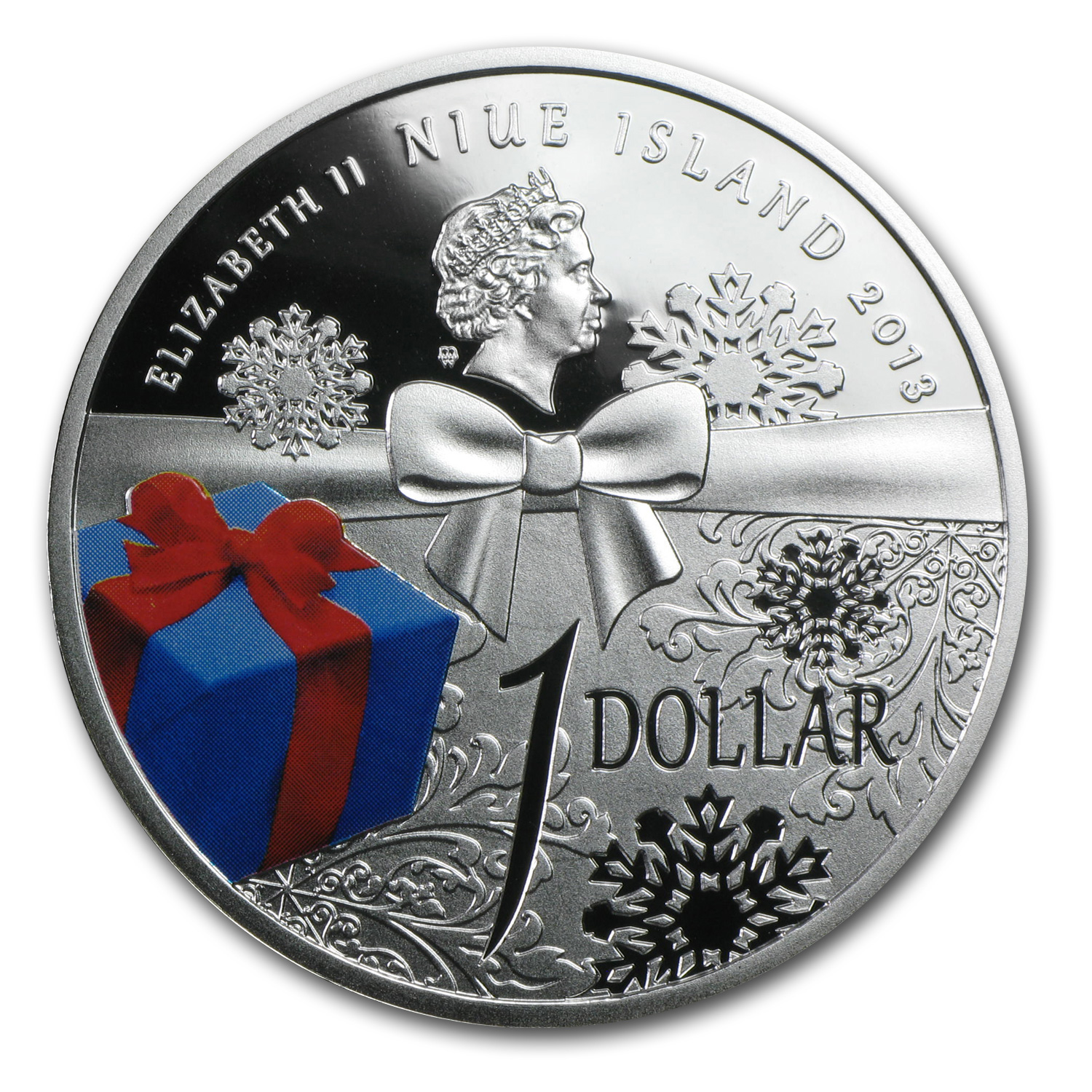 Niue 2013 Silver Proof $1 Merry Christmas Coin