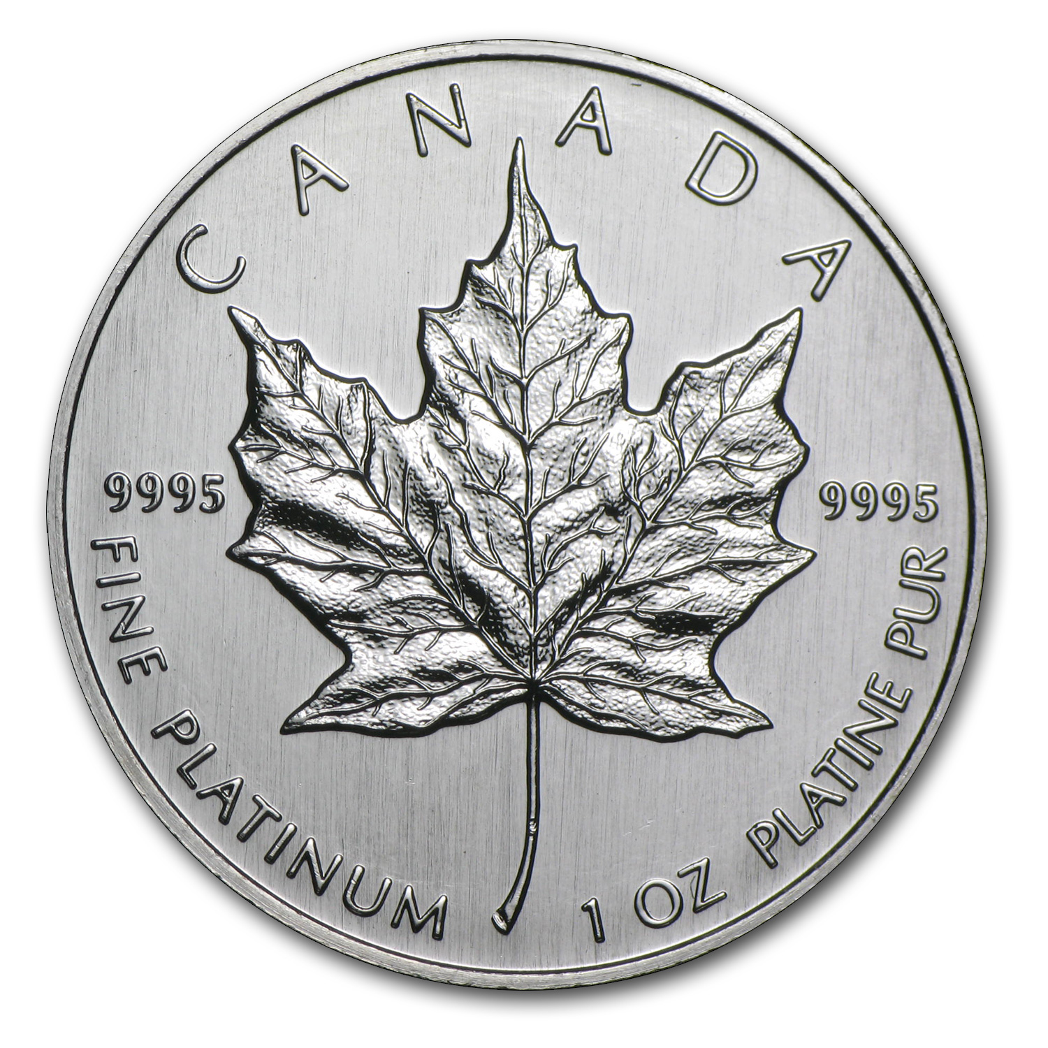 1992 1 oz Canadian Platinum Maple Leaf BU