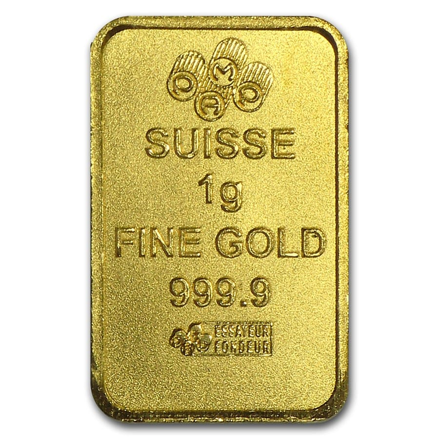 25x1 gram Gold Bar PAMP Suisse Multigram+25 (In Assay)