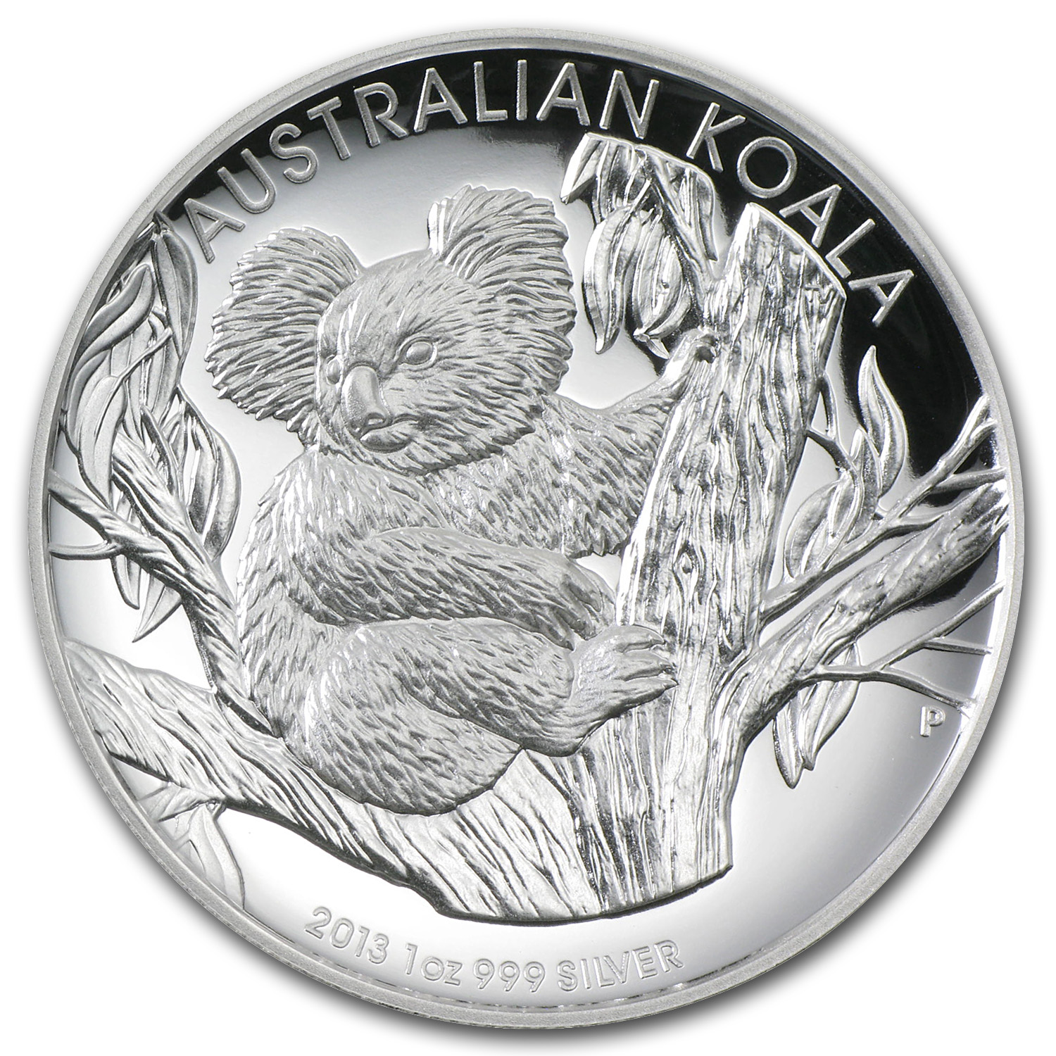 2013 1 oz Proof Silver High Relief Koala (W/Box & Coa)