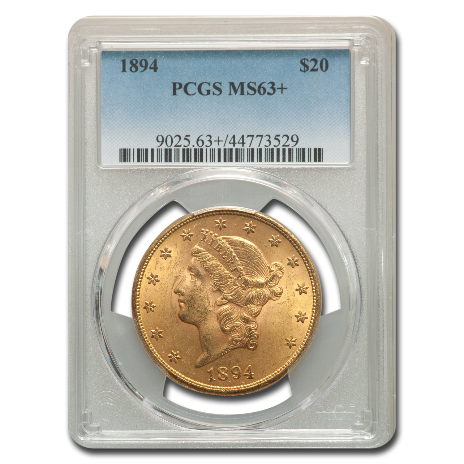 1894 $20 Gold Liberty Double Eagle MS-63+ PCGS