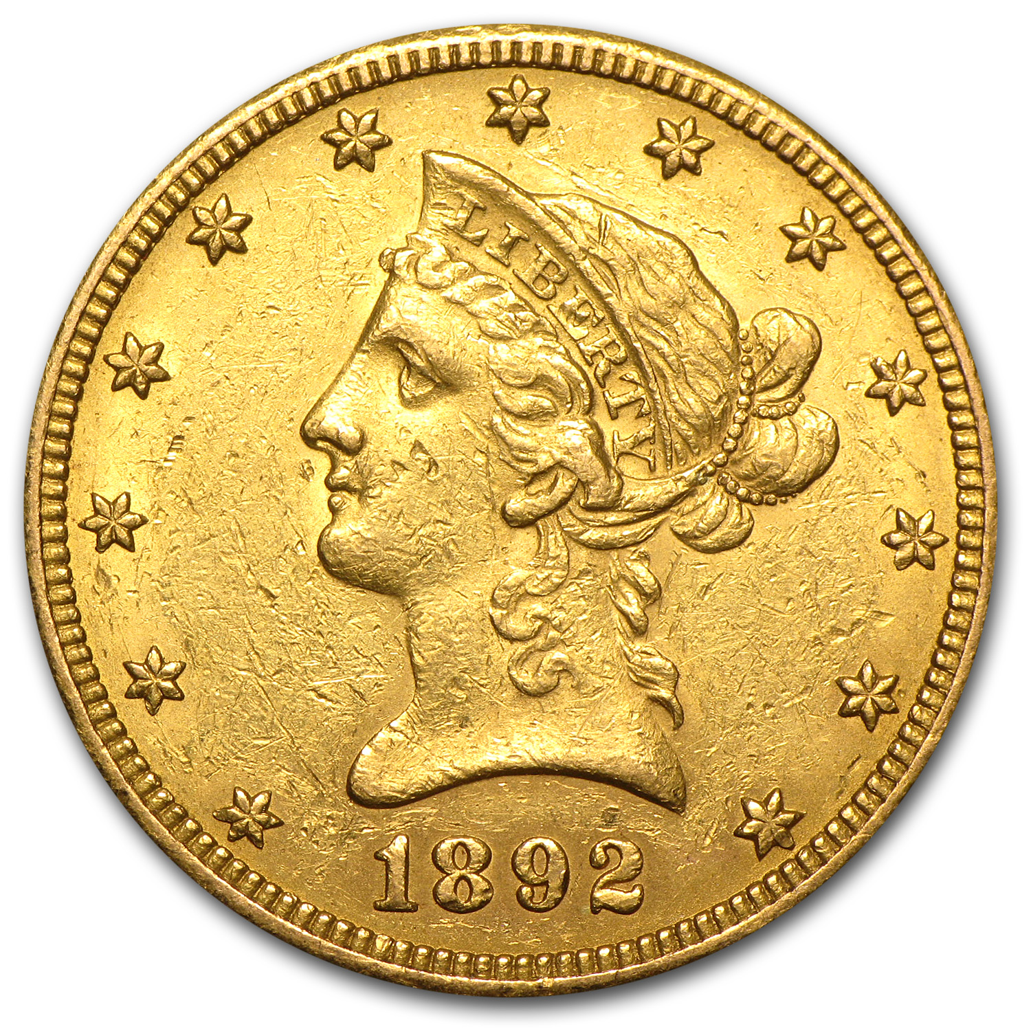 1892-O $10 Liberty Gold Eagle Extra Fine