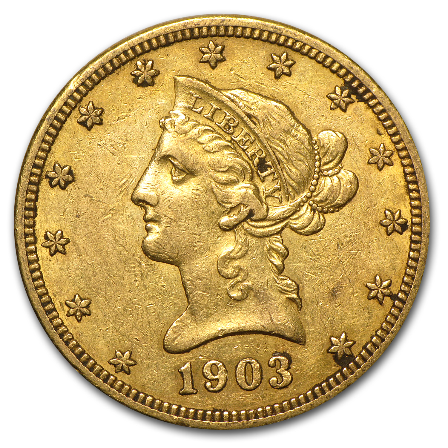 1903-O $10 Liberty Gold Eagle Extra Fine