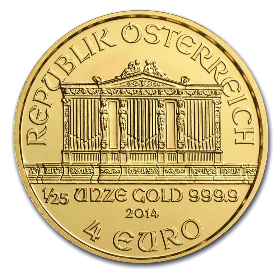 2014 1/25 oz Gold Austrian Philharmonic