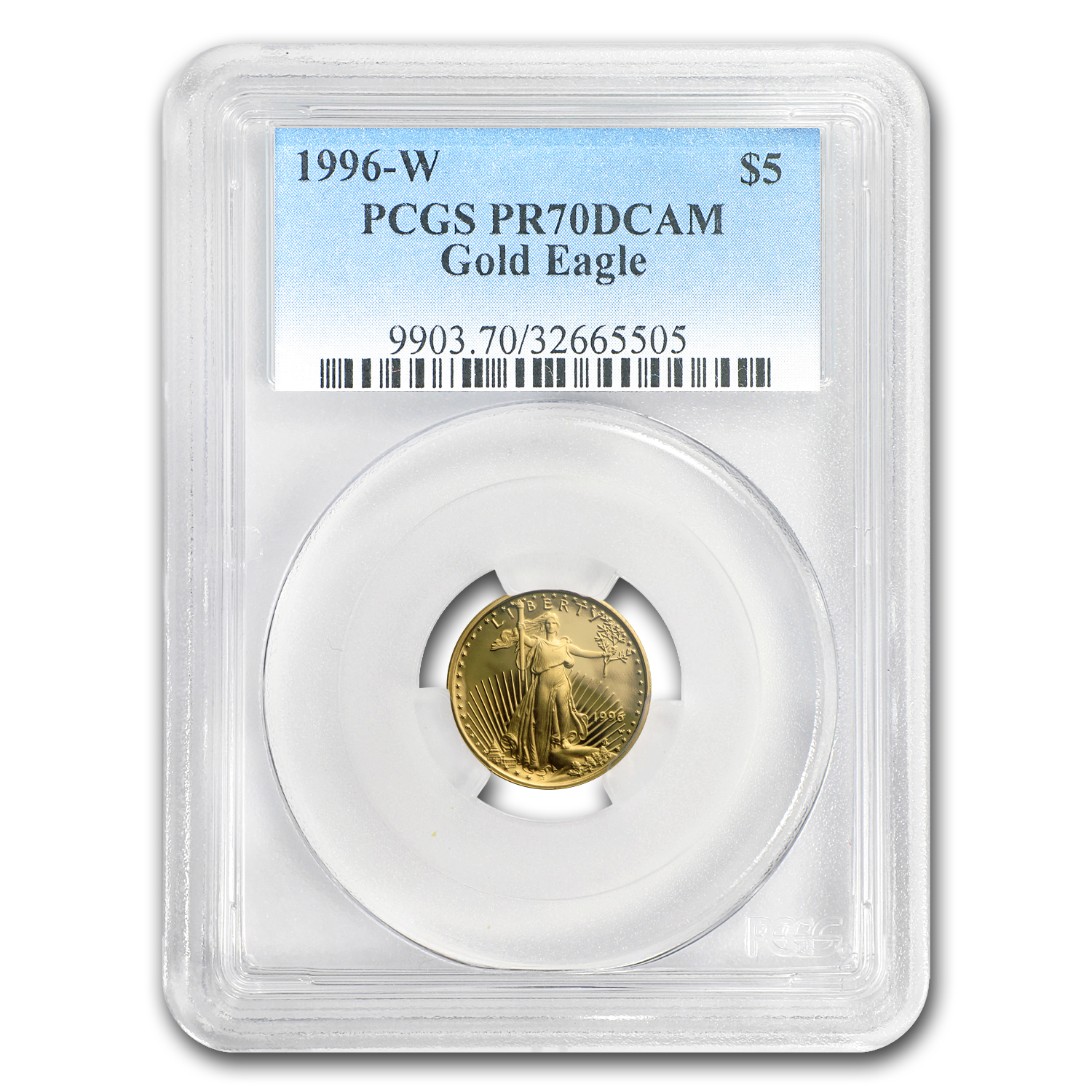 1996-W 4-Coin Proof Gold American Eagle Set PR-70 PCGS