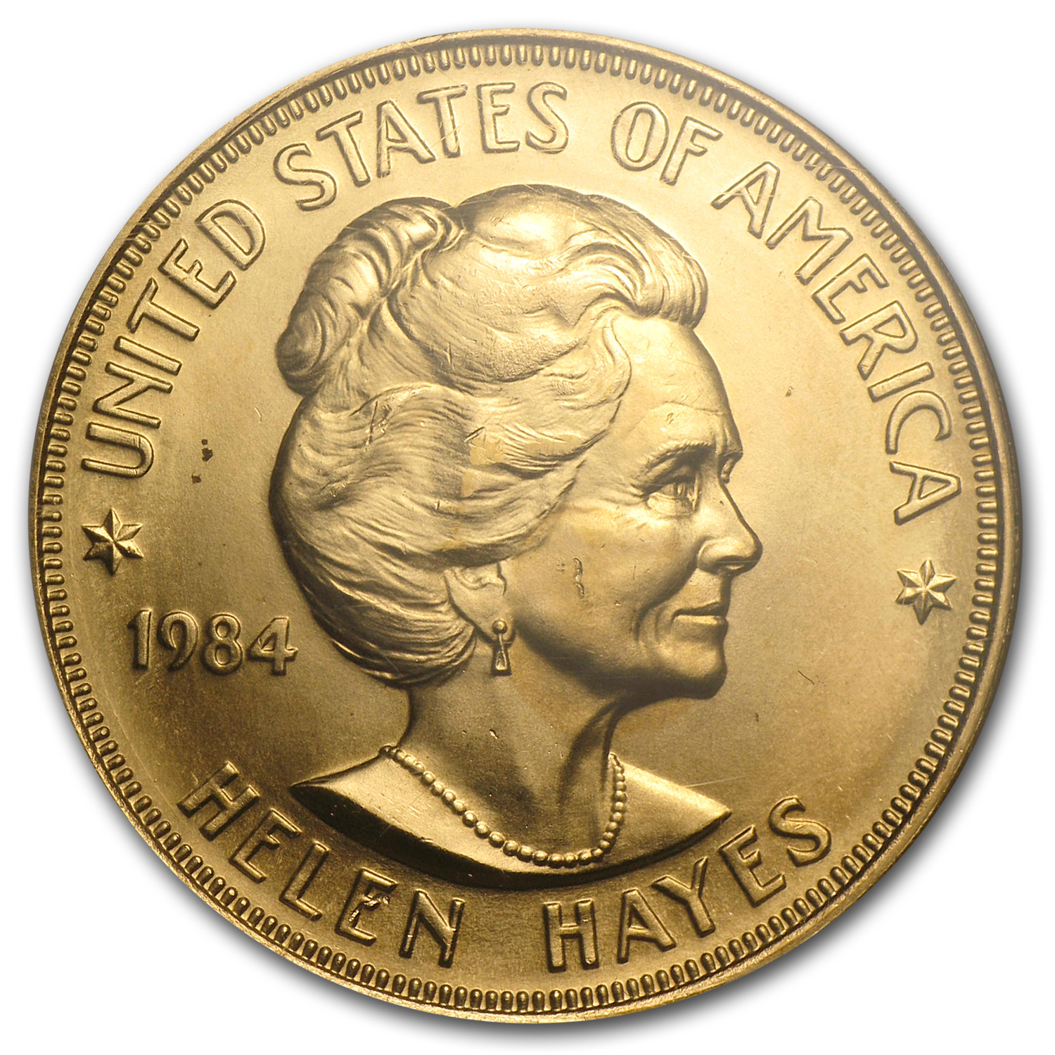 U.S. Mint 1 oz Gold Commem Arts Medal Helen Hayes MS-69 NGC