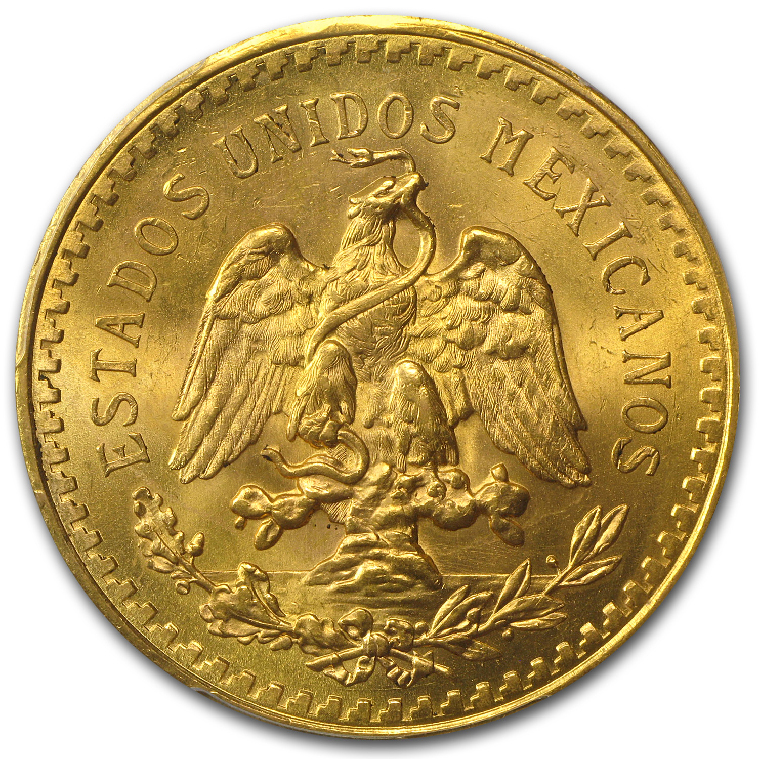 Mexico 1946 50 Pesos Gold Coin - MS-65 PCGS (Secure Plus)
