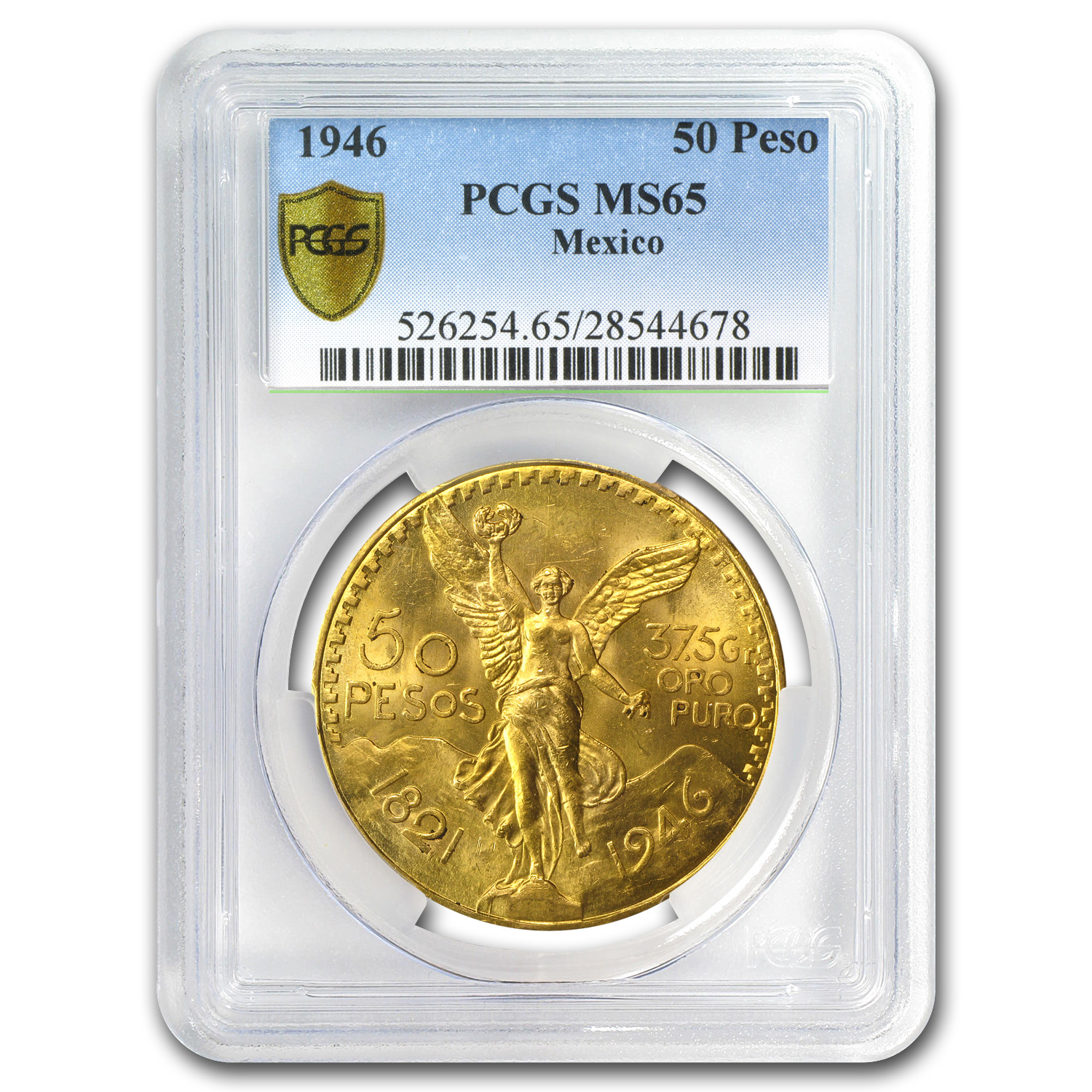 1946 Mexico Gold 50 Pesos MS-65 PCGS (Secure Plus)