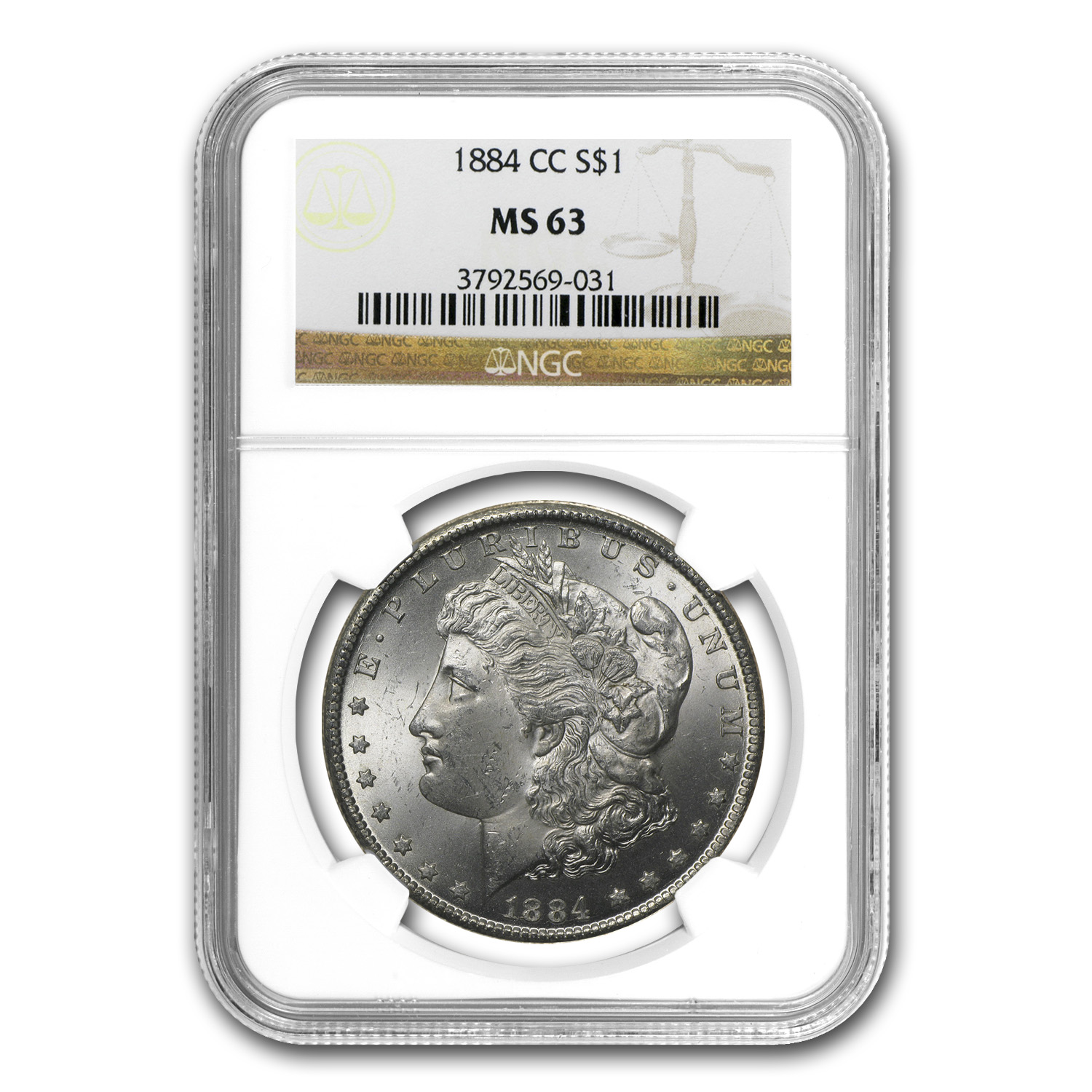 1882-1884 Morgan Dollars MS-63 NGC (Carson City Mint)