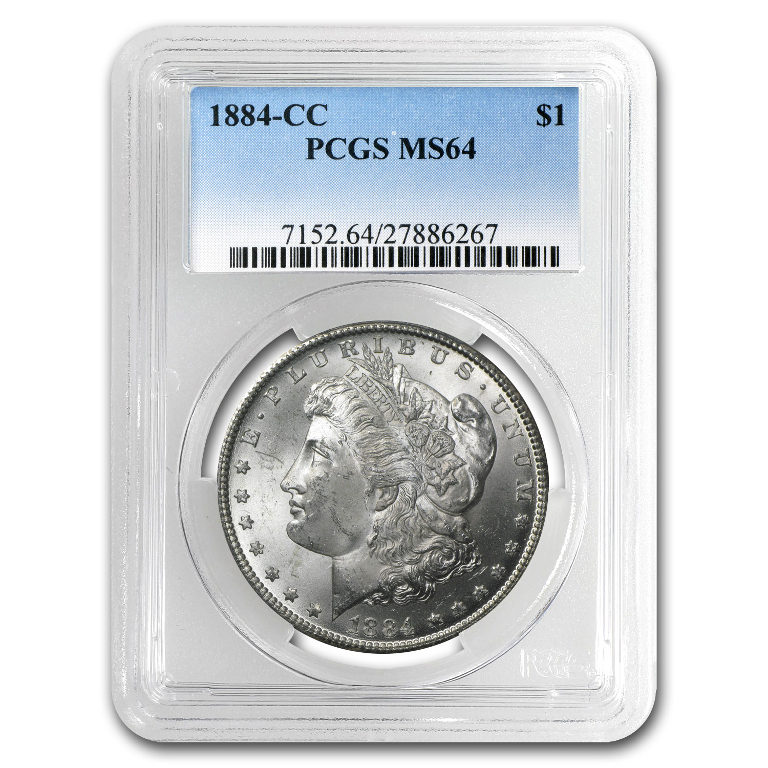 1882-1884 Morgan Dollars - MS-64 PCGS (Carson City Mint)