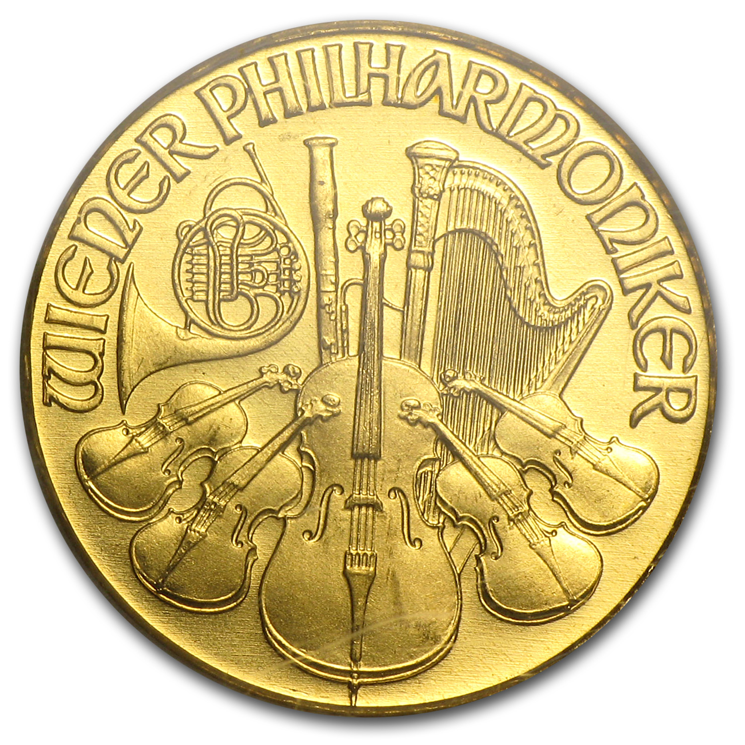 1992 1/10 oz Gold Philharmonic Gem Unc PCGS (World Trade Center)