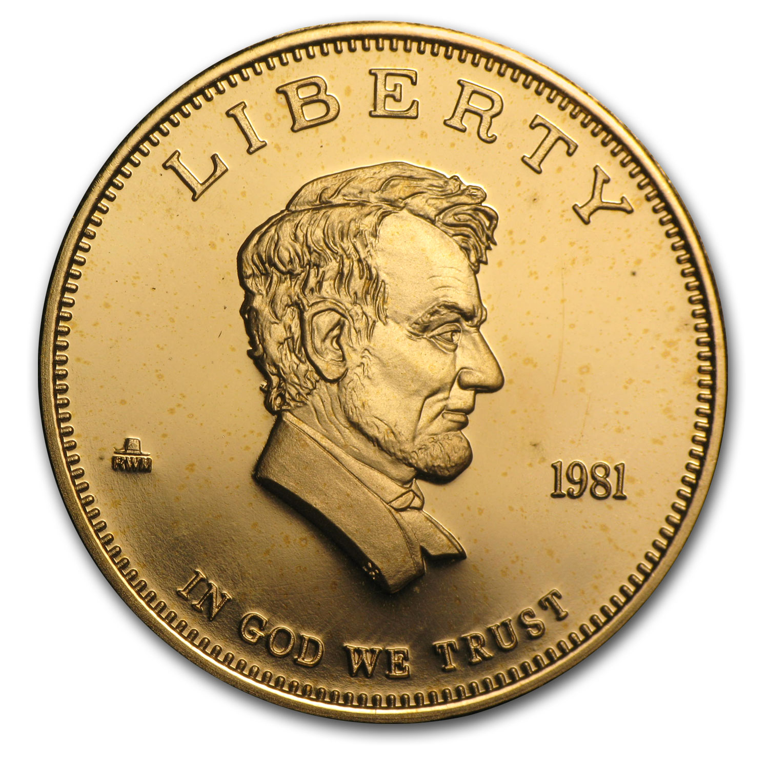 1 oz Gold Round - Abraham Lincoln Gold Standard Corp (.900 Fine)