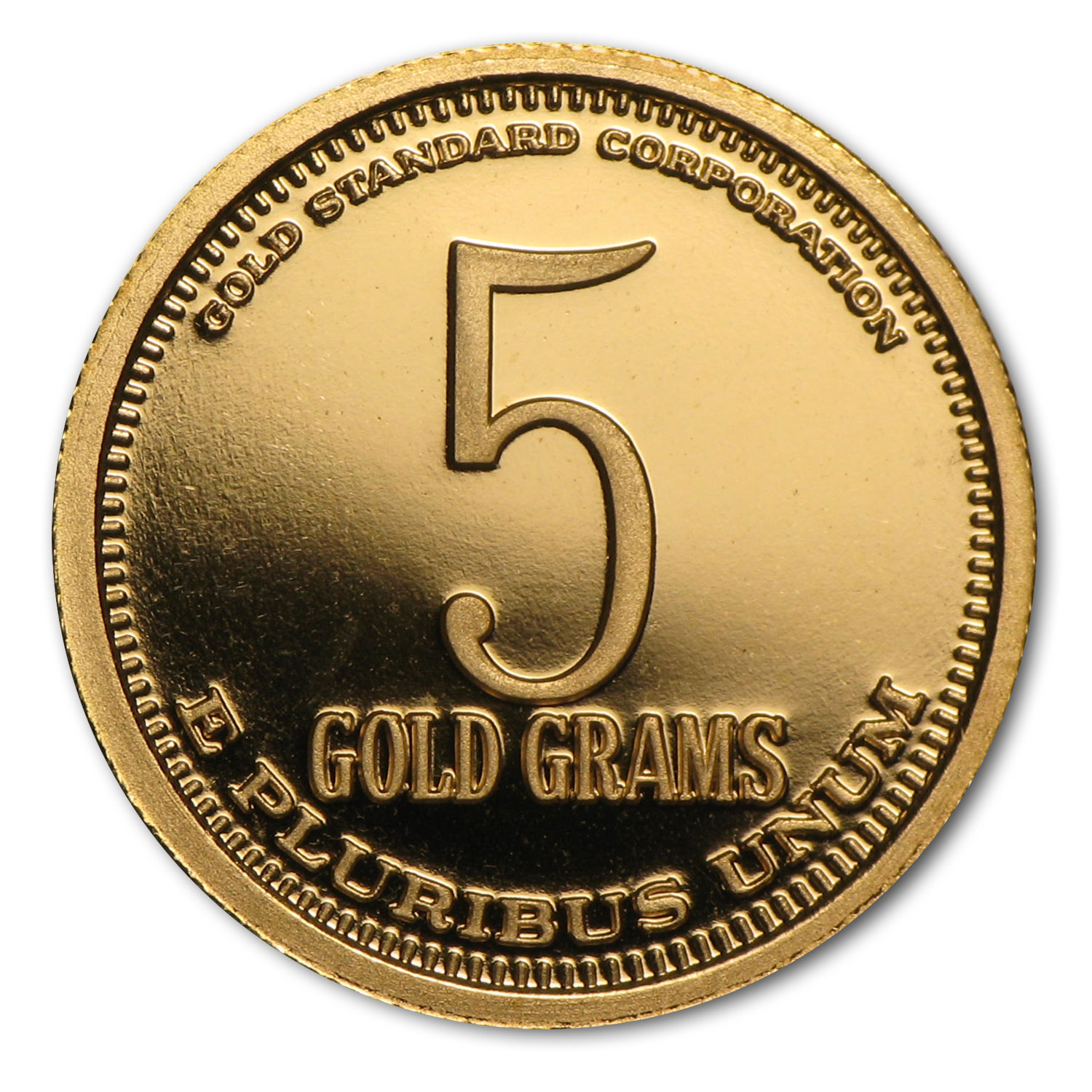 5 gram Gold Rounds - Adam Smith Gold Standard Corp (.900 Fine)