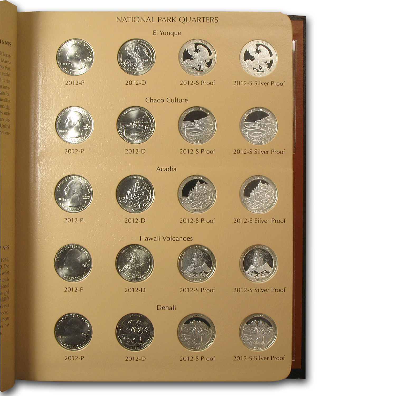 2010-2013 80-Coin National Parks/ATB Quarter Set (Dansco Album)