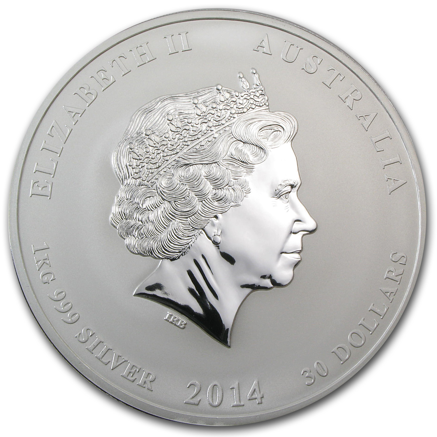 2014 Australia 1 kilo Silver Year of the Horse (Colorized)