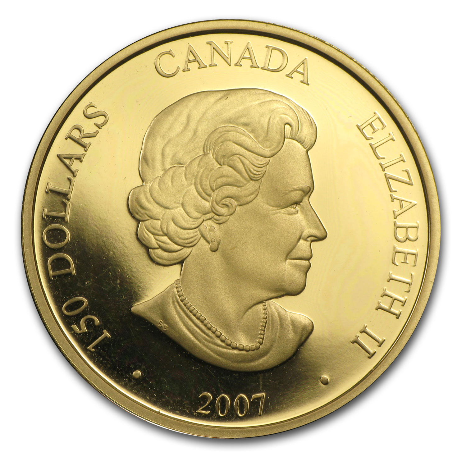 2007 Gold Canadian $150 Lunar Year of the Pig Hologram - Impaired