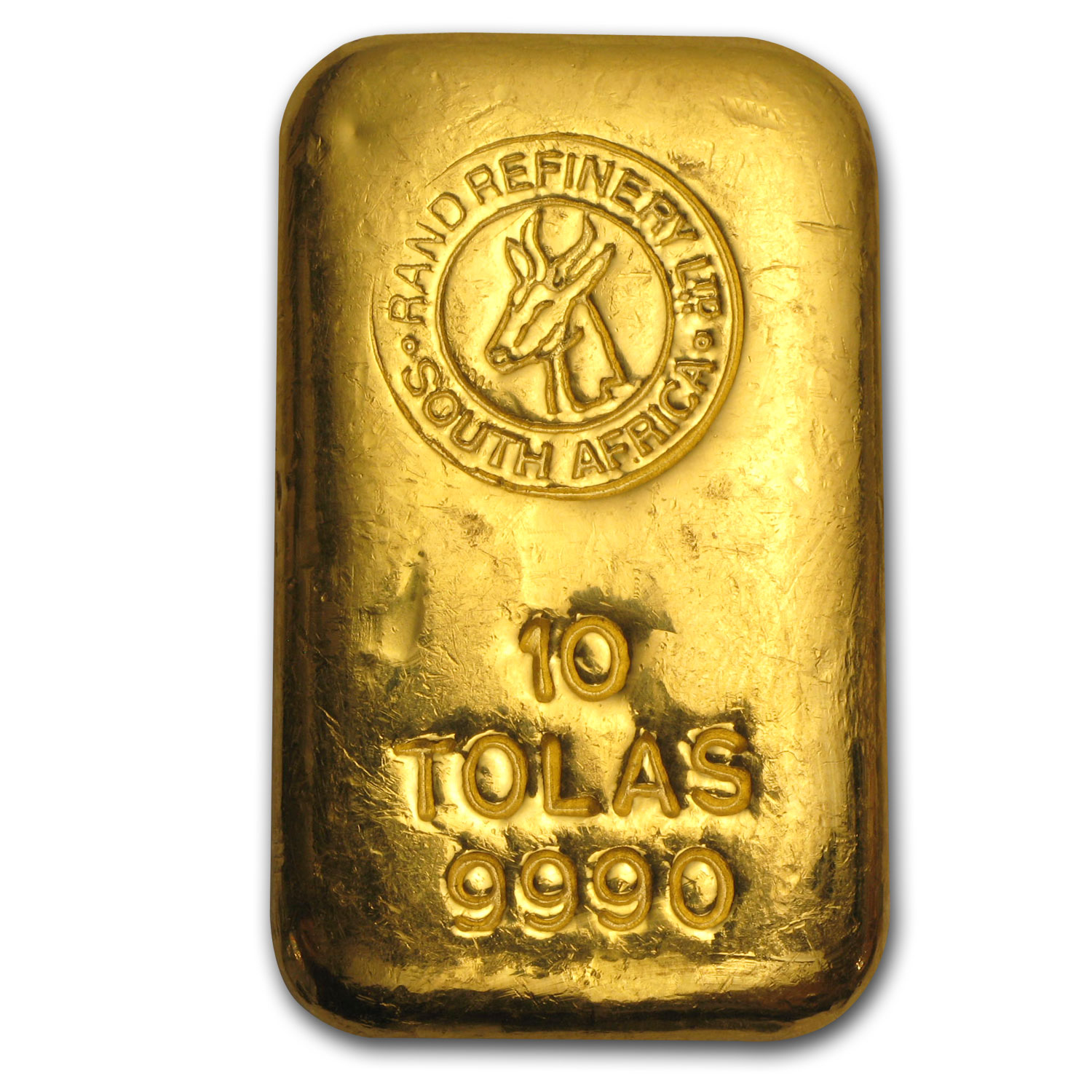 10 Tolas Gold Bar - Rand Refinery (3.75 oz)