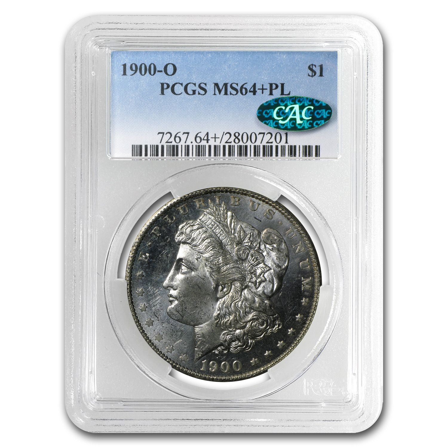 1900-O Morgan Dollar MS-64+PL Plus Prooflike PCGS (CAC)