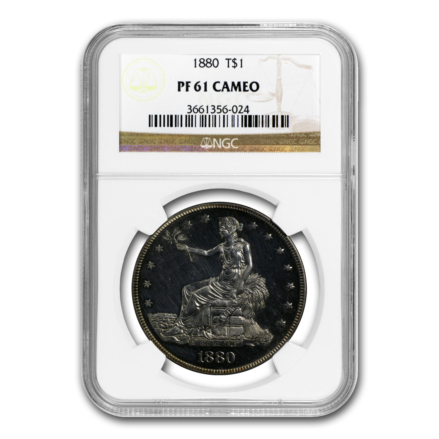1880 Trade Dollar PF-61 Cameo NGC