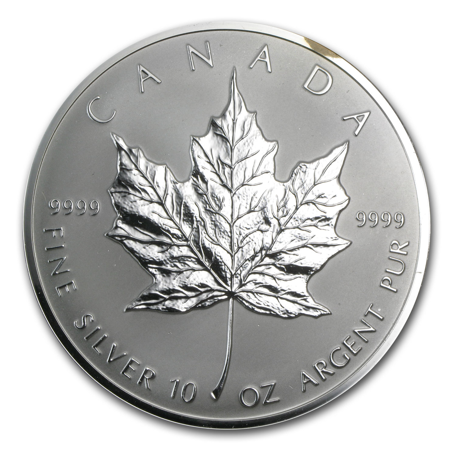 1998 Canada 10 oz Silver $50 Maple Leaf (10th Anniv, no box)