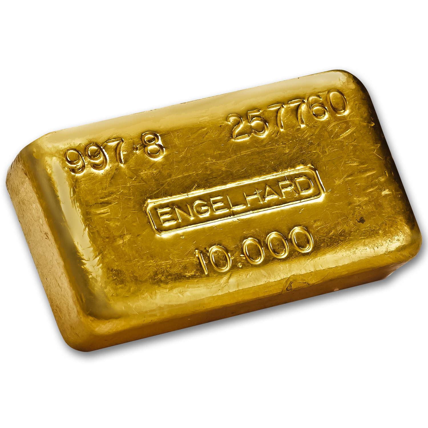 10 oz Gold Bar - Engelhard (Poured/Loaf Style, 997.8 Fine)