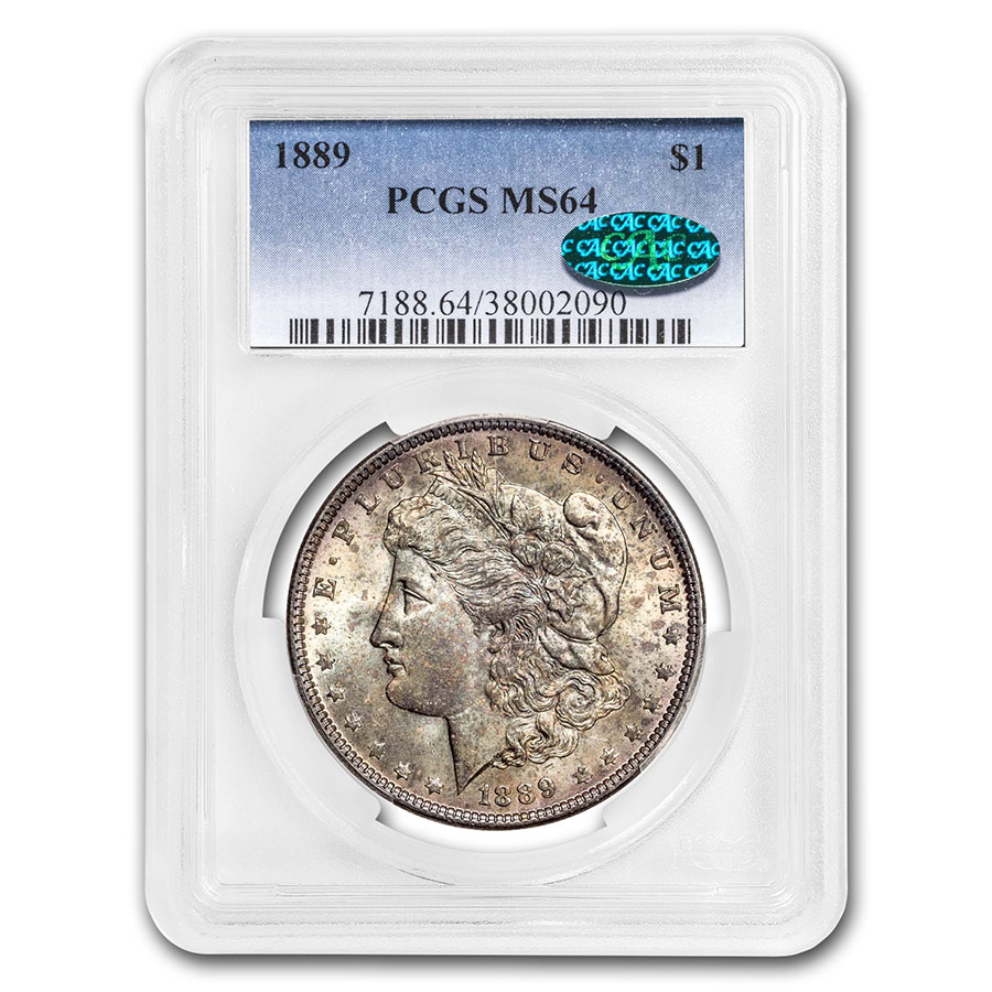 1889 Morgan Dollar MS-64 PCGS Beautifully Toned - CAC