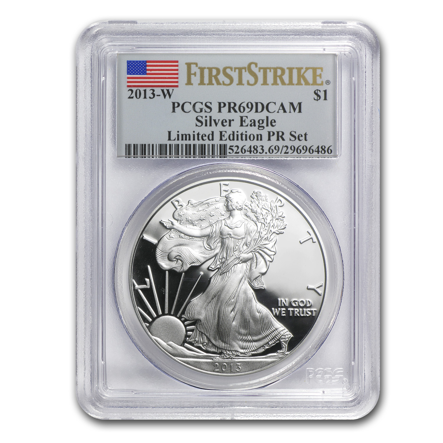 2013-W Proof Silver Eagle PR-69 PCGS (FS, Limited Edition)