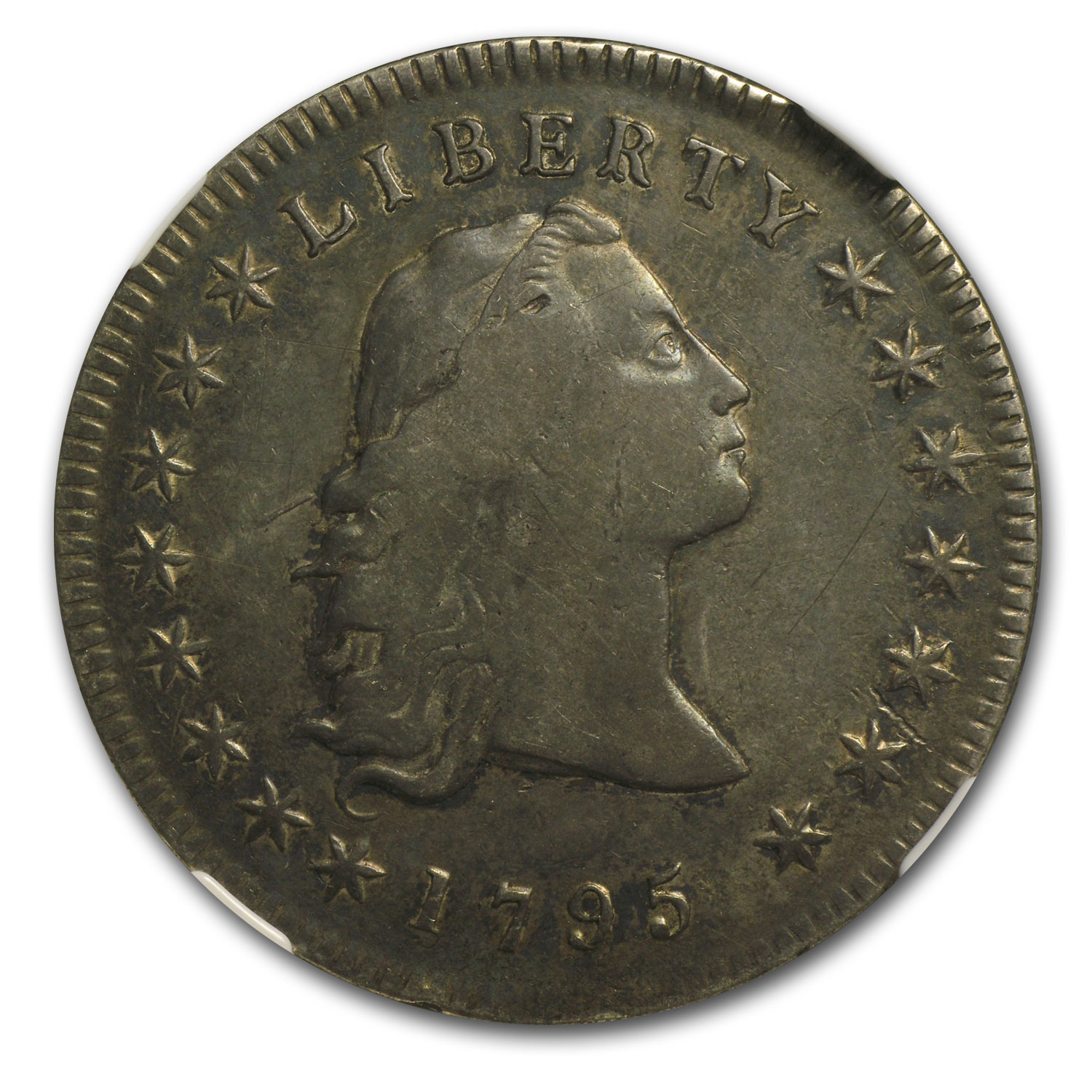 1795 Flowing Hair Dollar VF-30 NGC (3 Leaves)
