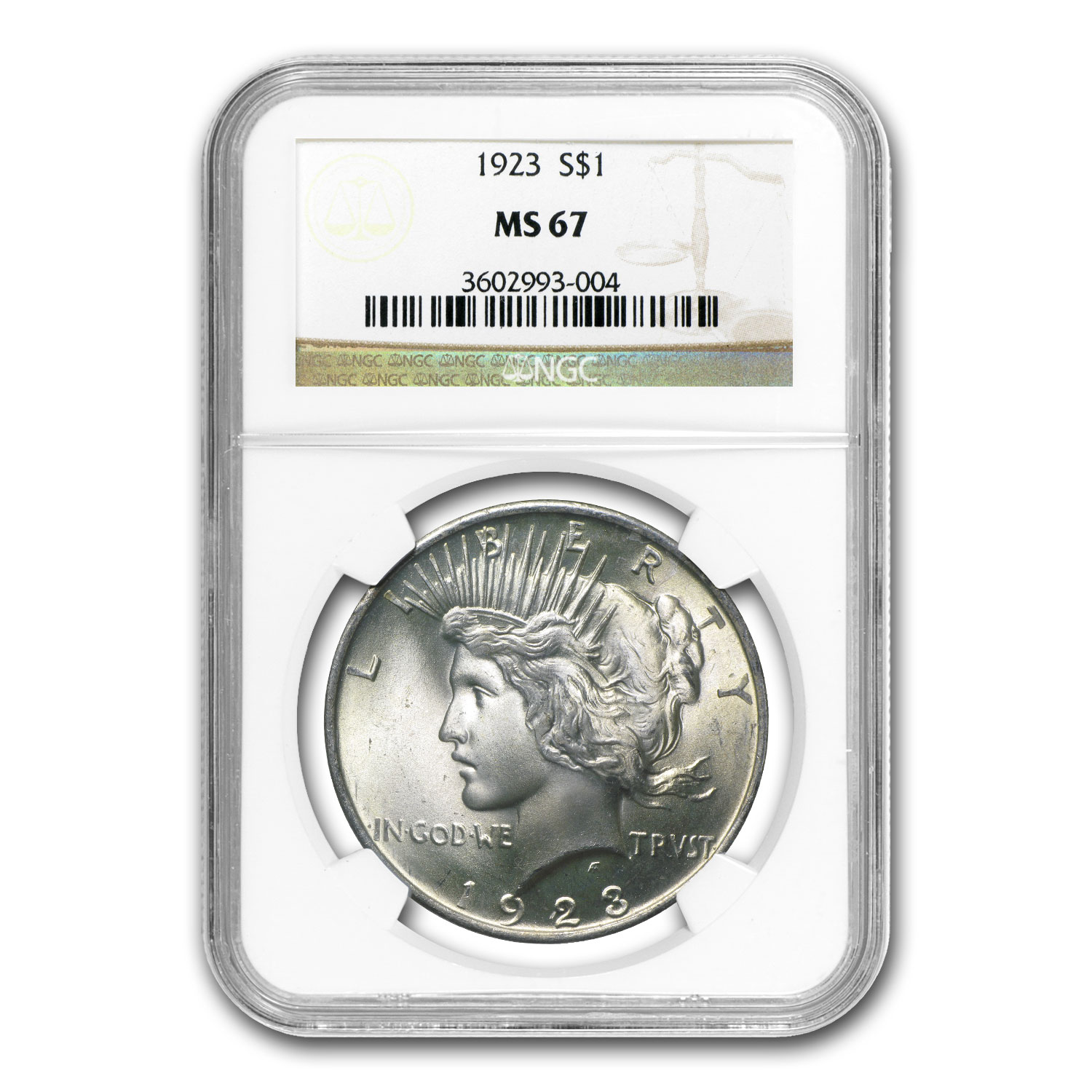 1922-1925 Peace Dollars MS-67 NGC