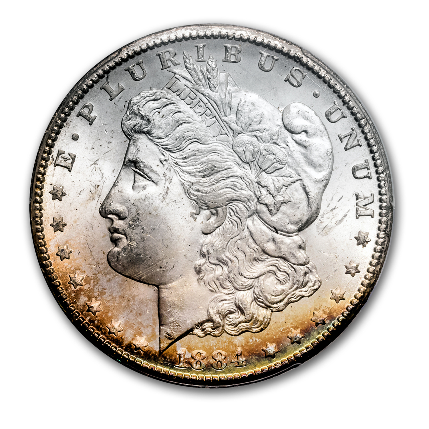 1884-CC Morgan Dollar MS-64 PCGS (Toned)