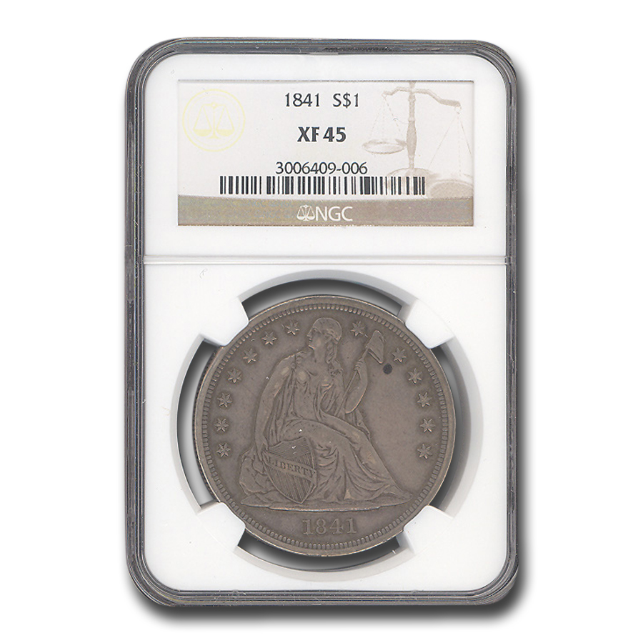 1872 Liberty Seated Dollar AU-50 NGC