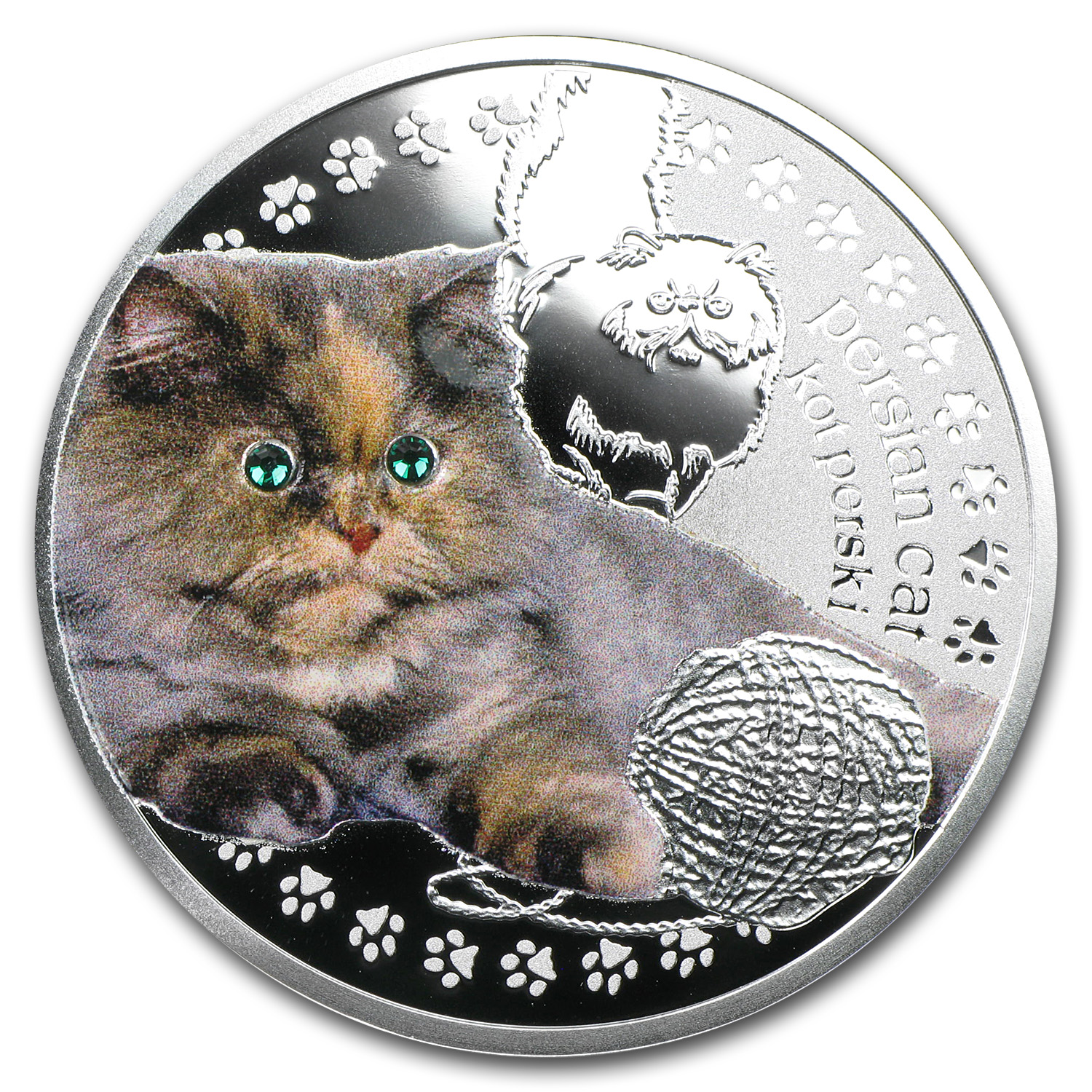 2014 Niue Proof Silver Man's Best Friends Cats Persian Cat