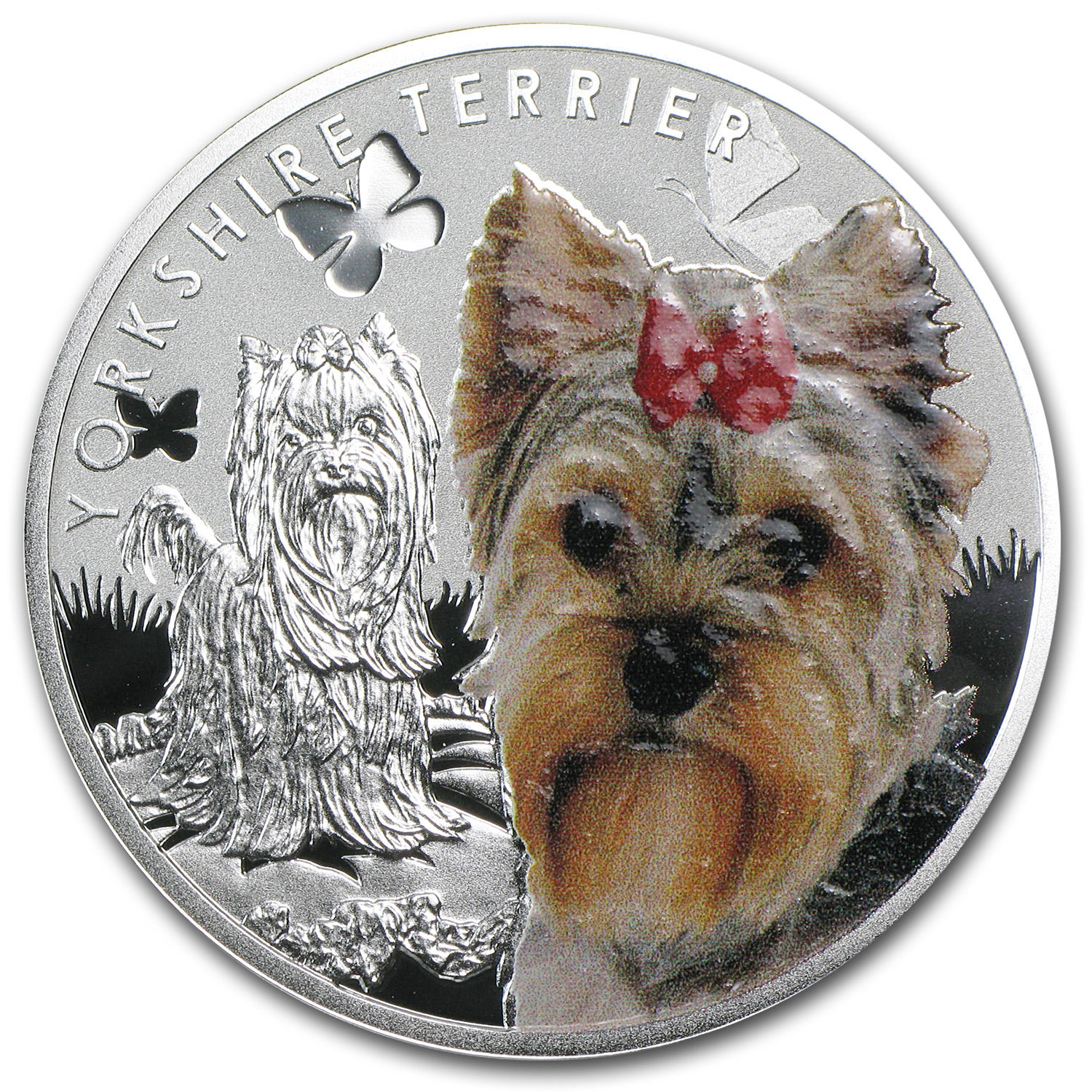 2014 Niue Proof Silver Man's Best Friends Dogs Yorkie