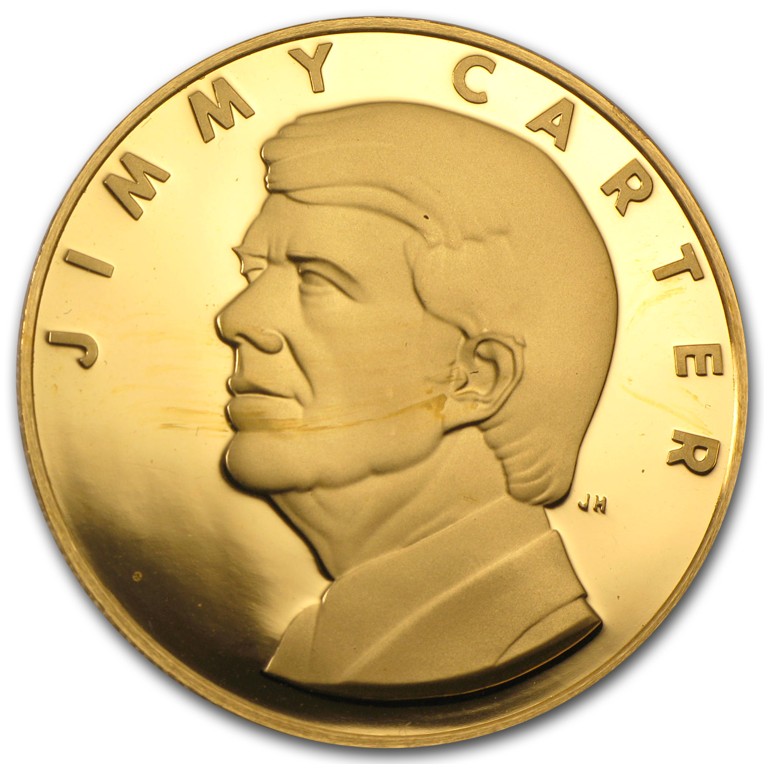 40 Oz Gold Round Jimmy Carter Inaugural 24k All