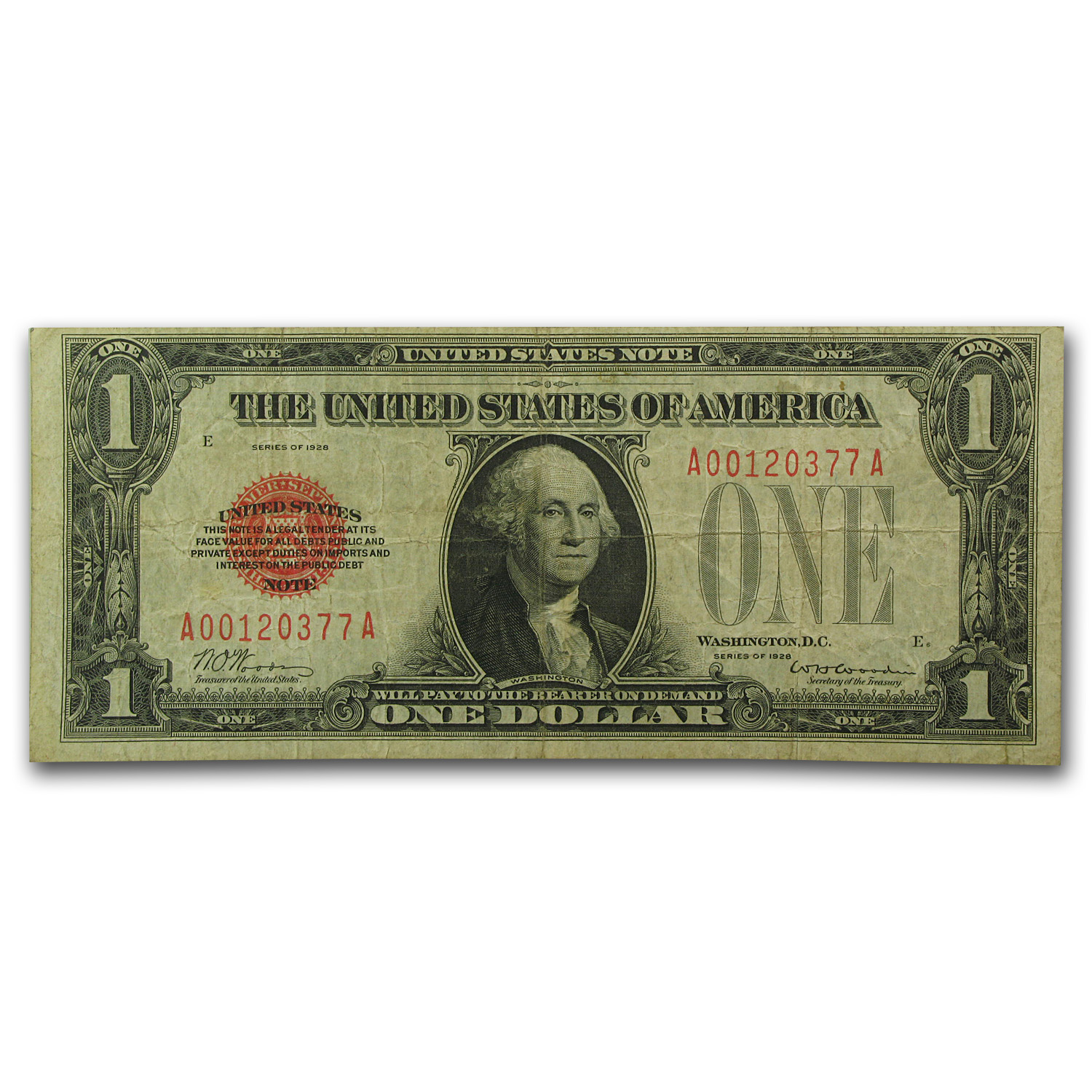 1928 $1.00 U.S. Note Legal Tender VF